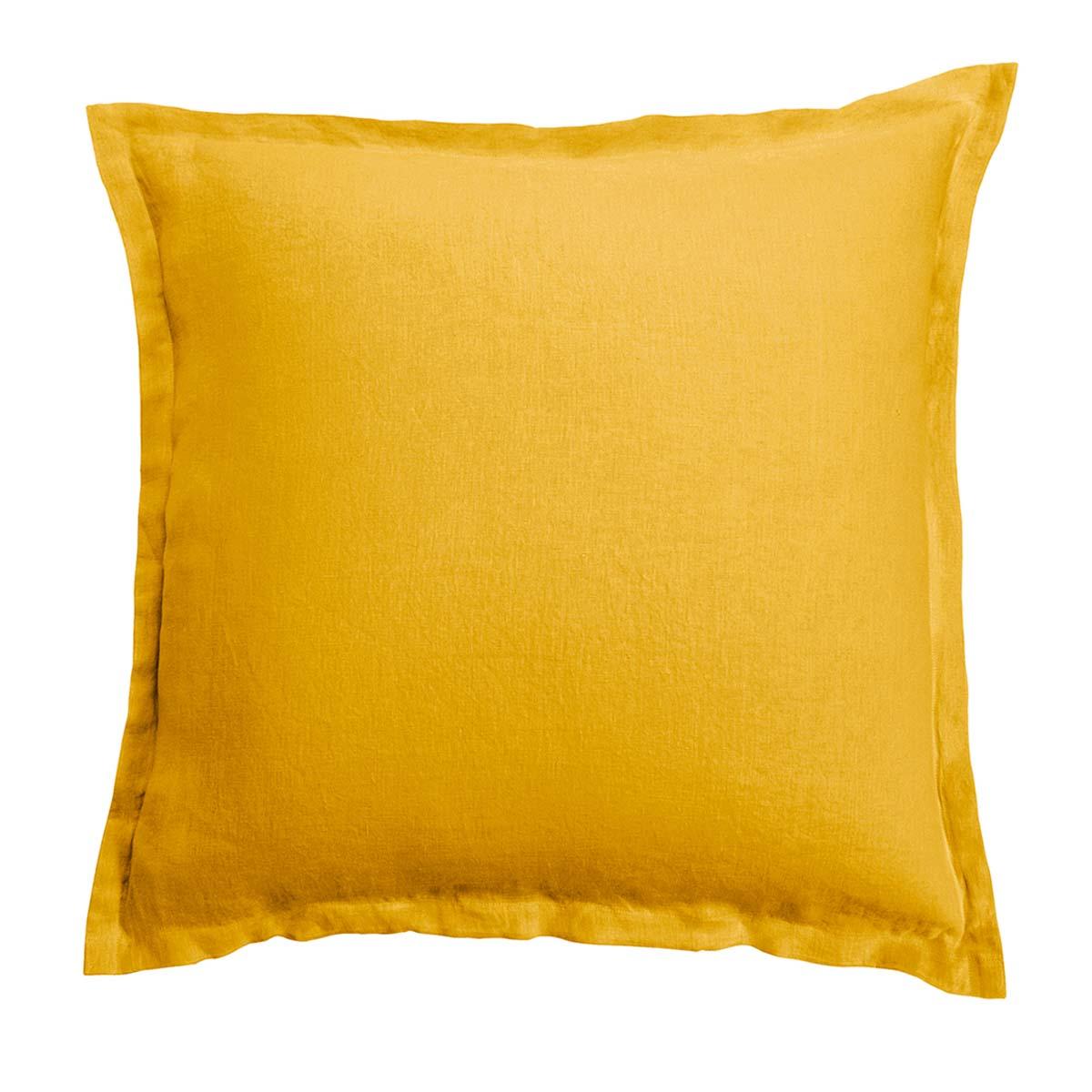 Anne de Solne Taie d'oreiller lin 65x65 cm miel