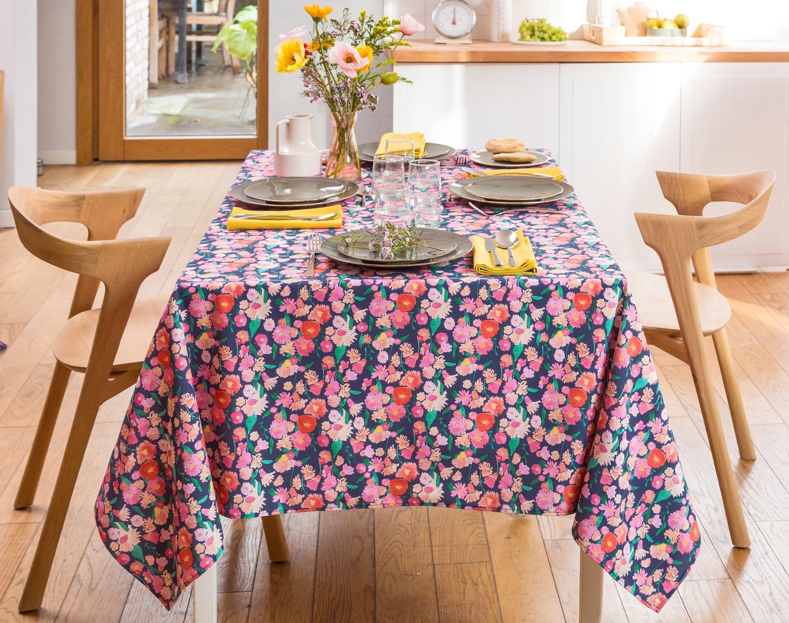 Becquet Nappe carrée multicolore en coton 160x160