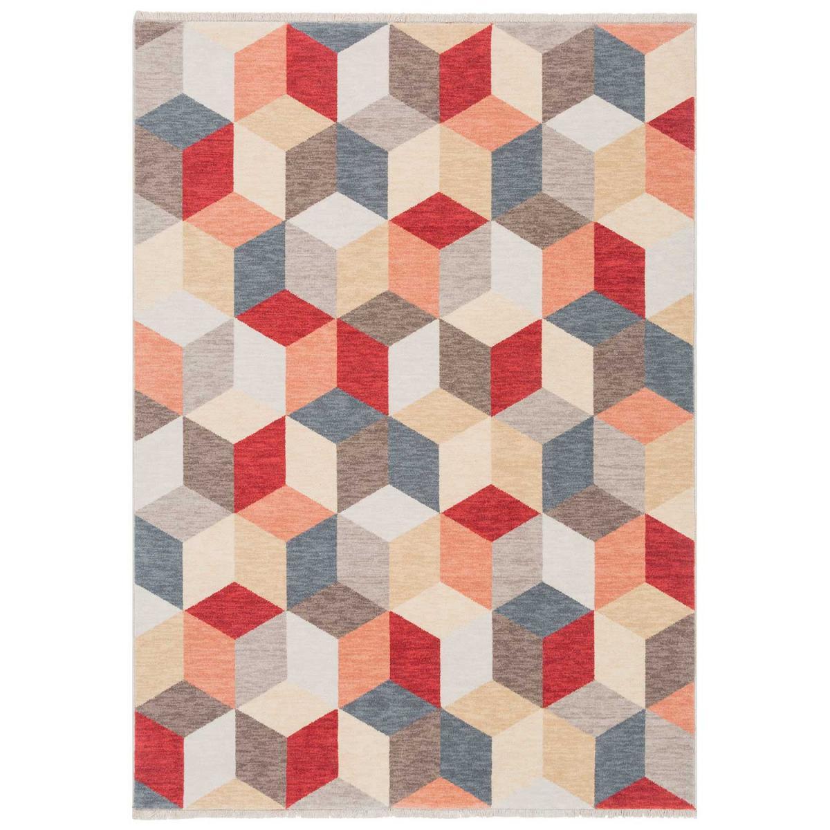Ligne Pure Tapis design et moderne en laine multicolore 250x345
