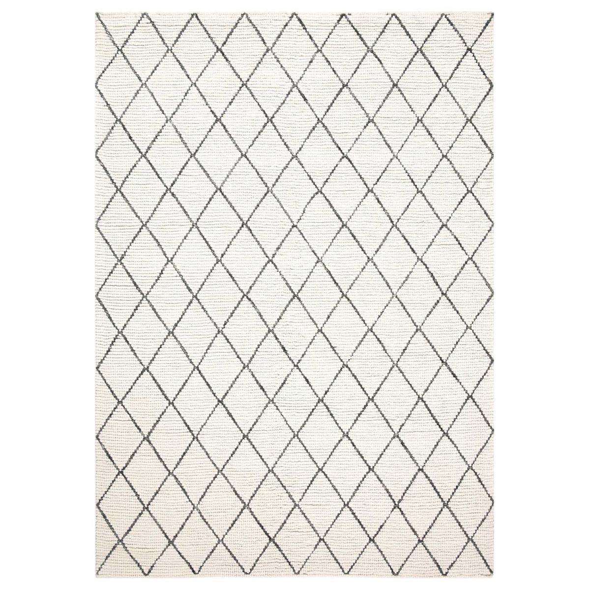 Ligne Pure Tapis design et moderne en laine blanc 140x200