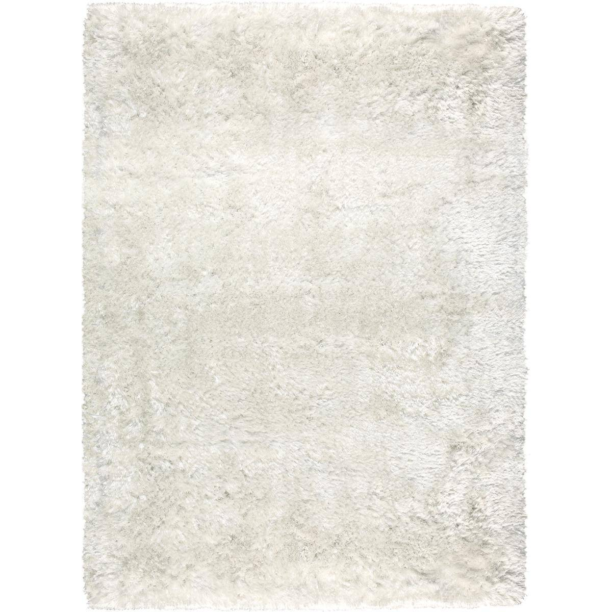 Ligne Pure Tapis shaggy poils long en polyester blanc 250x350