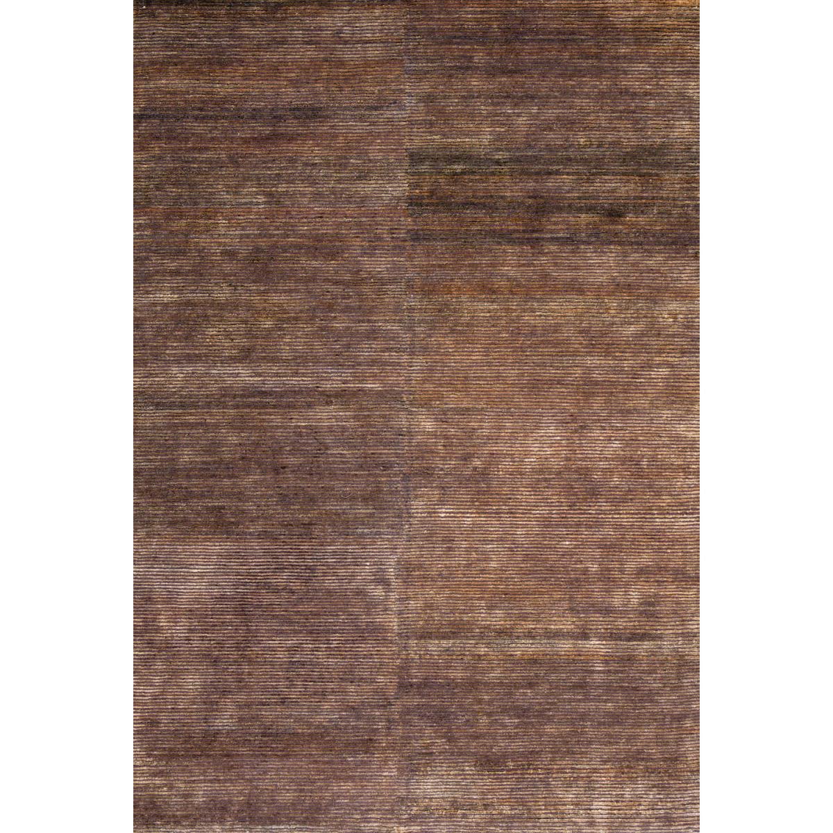 Ligne Pure Tapis design et moderne en chanvre marron 170x240