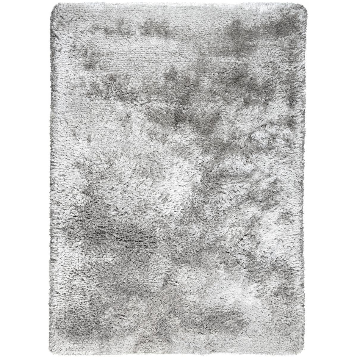 Ligne Pure Tapis shaggy poils long en polyester argent 140x200