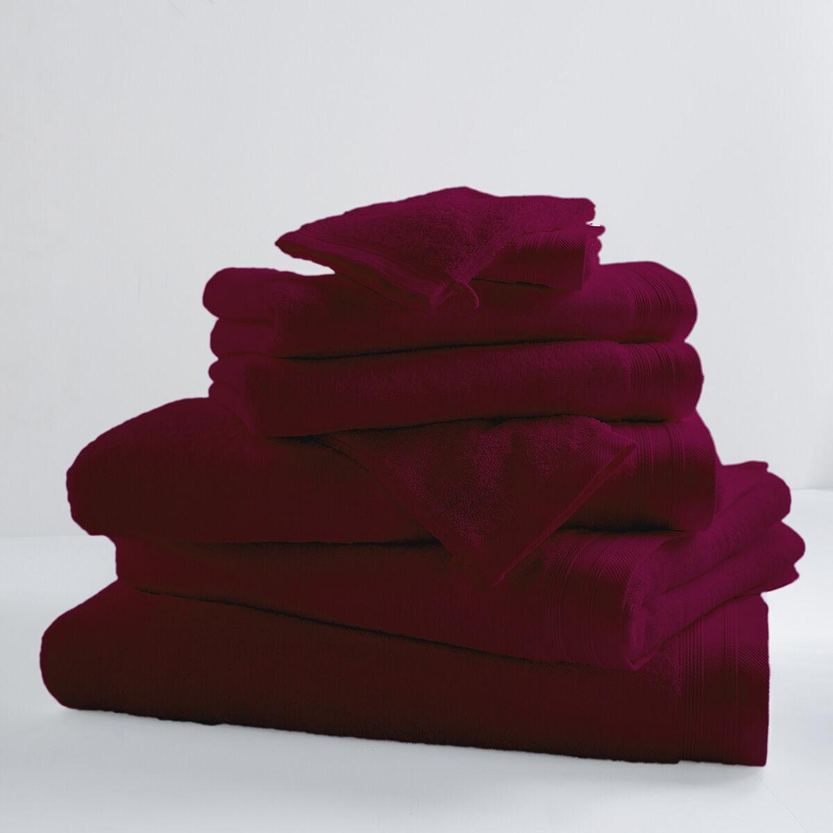 Home Bain Drap de bain uni et coloré coton raisin 150x100