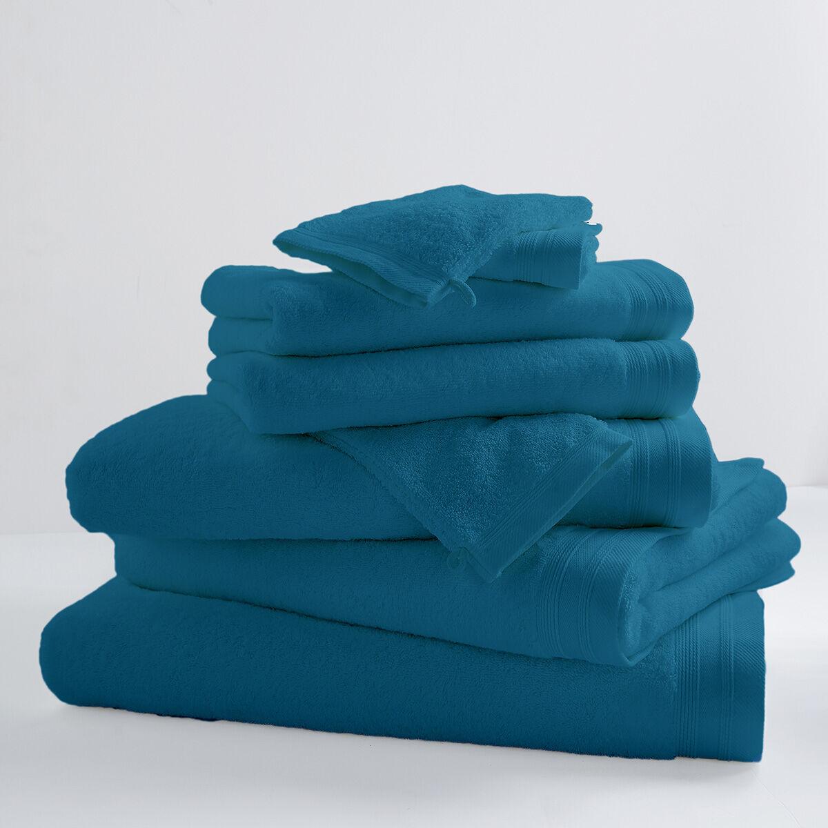 Home Bain Drap de bain uni et coloré coton turquoise 150x100