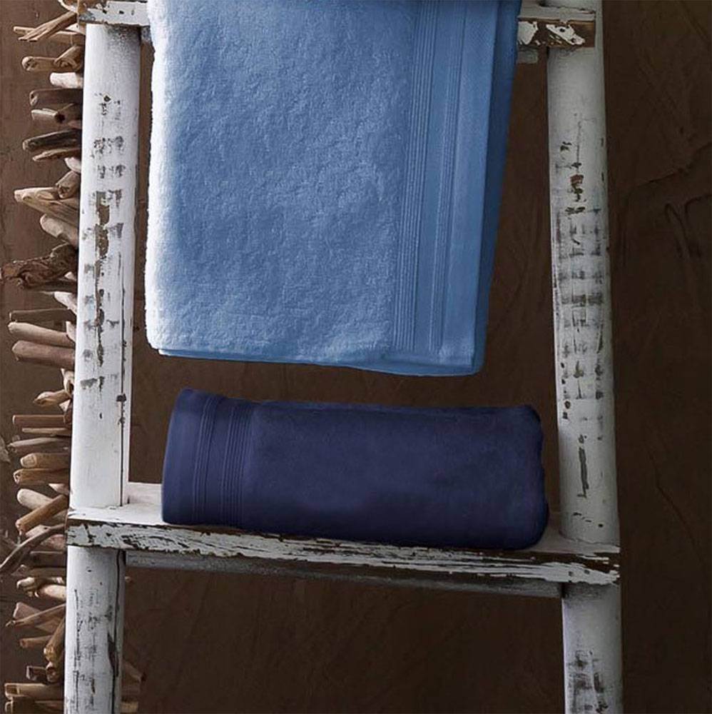 Home Bain Drap de bain uni et coloré coton lavande 150x100