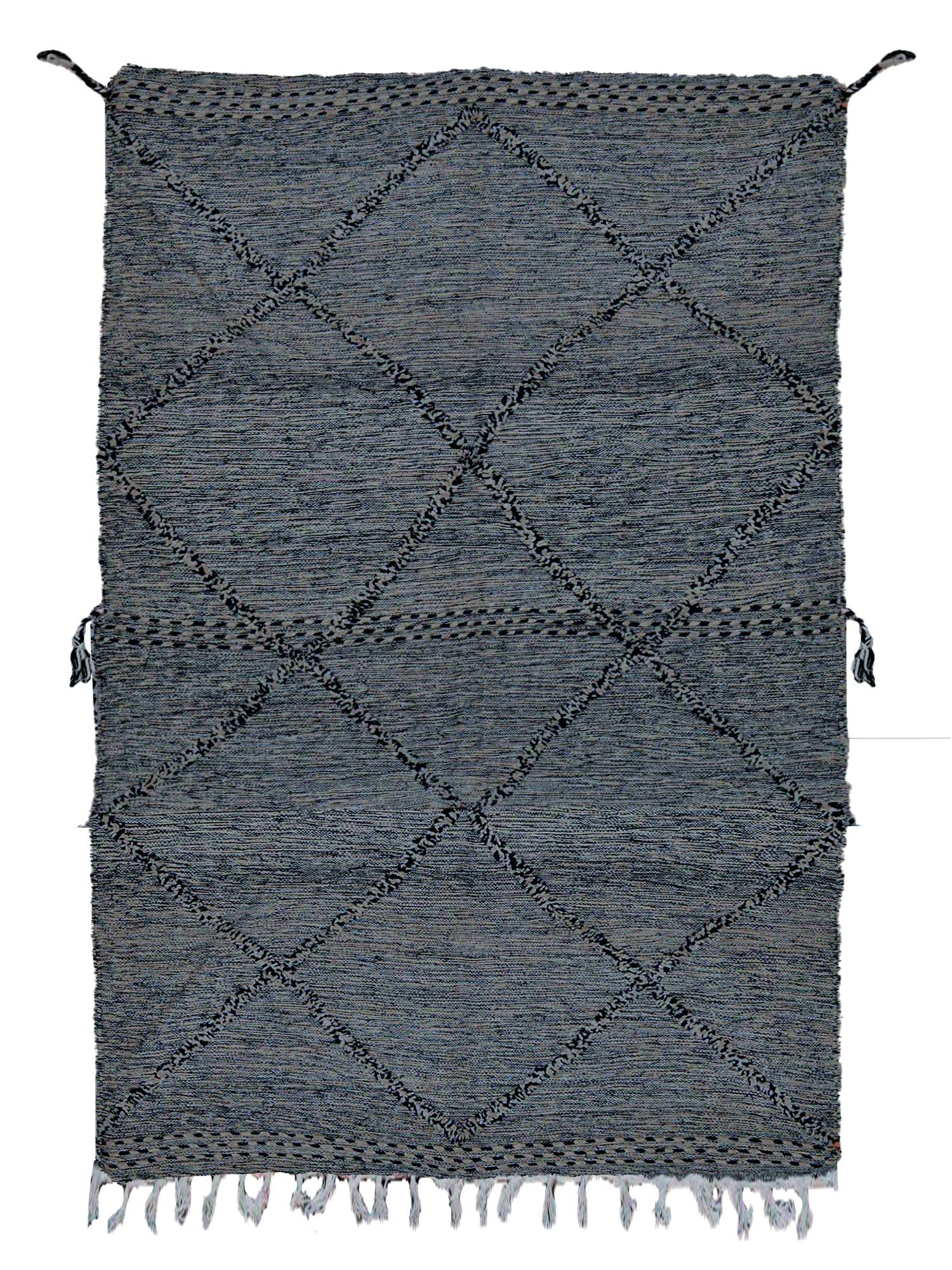 AFK Living Tapis berbre original marocain laine gris Souk 140x200