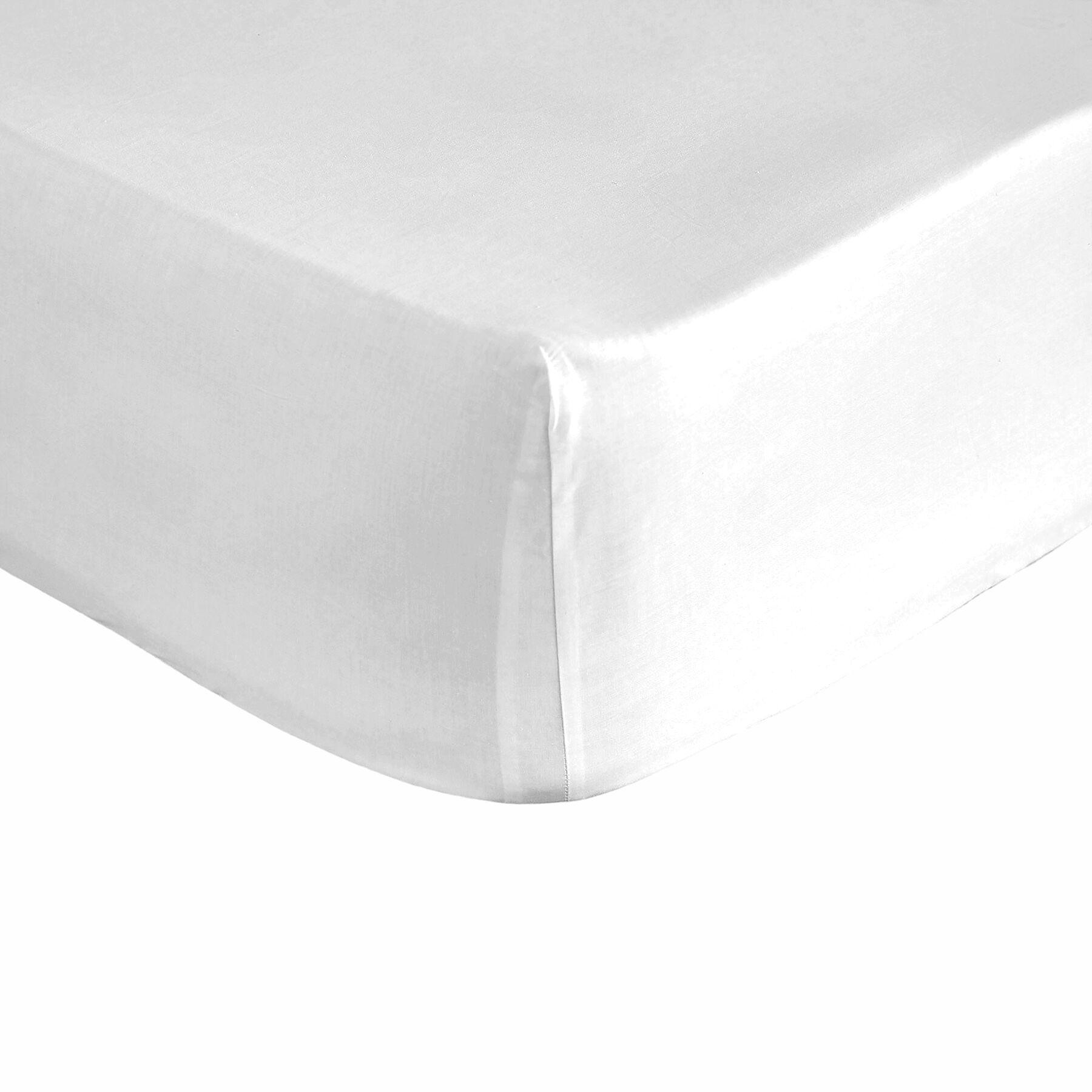 Pure Elegance Drap housse blanche 160x200 cm
