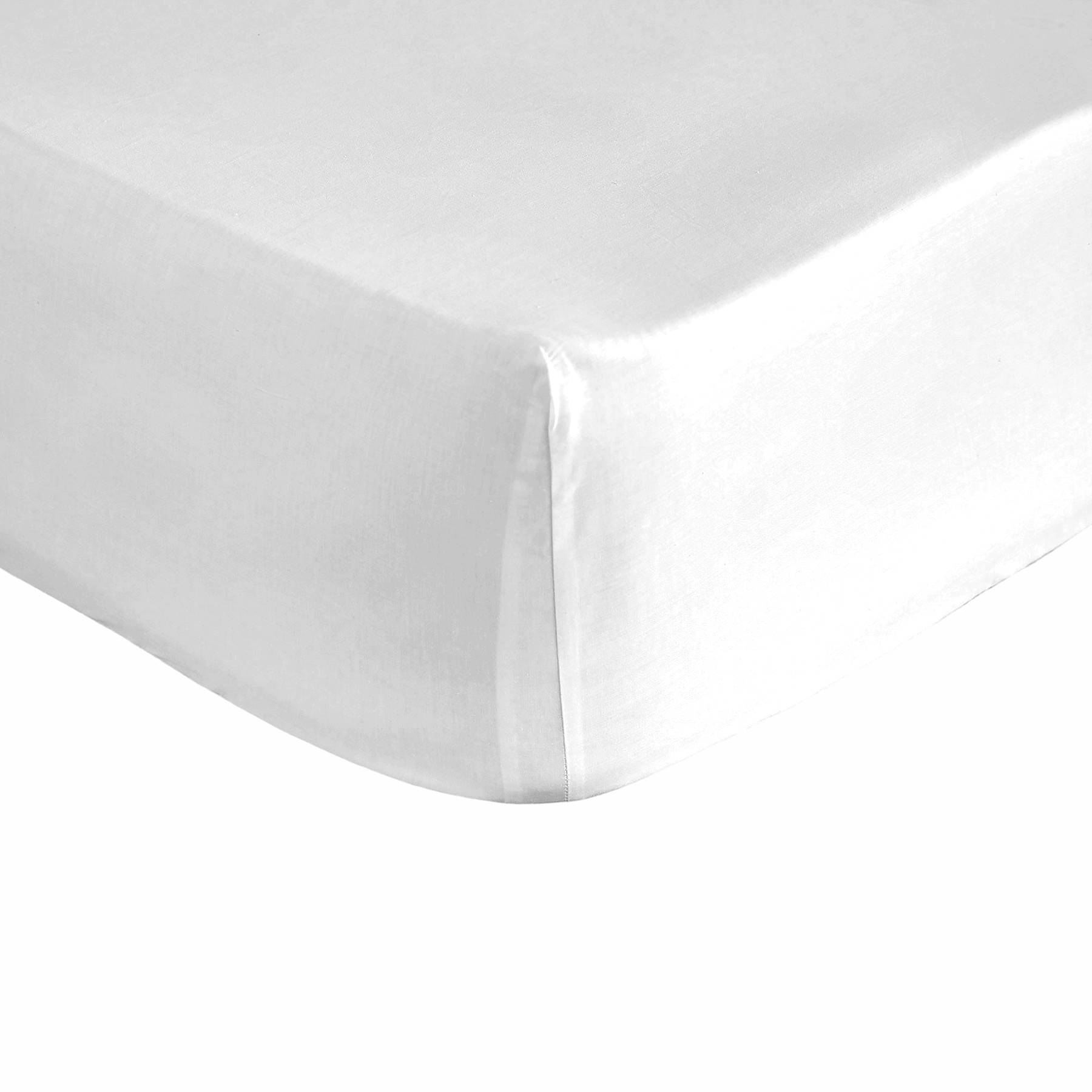 Pure Elegance Drap housse blanche 180x200 cm