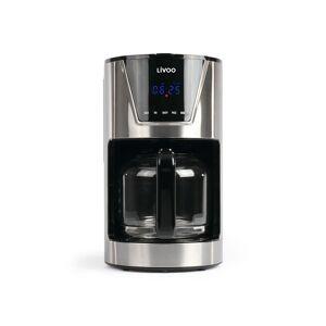 Livoo Cafetière électrique programmable en verre argent - Publicité