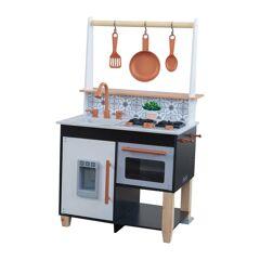KidKraft Cuisine enfants noire et blanche avec machine à glaçons