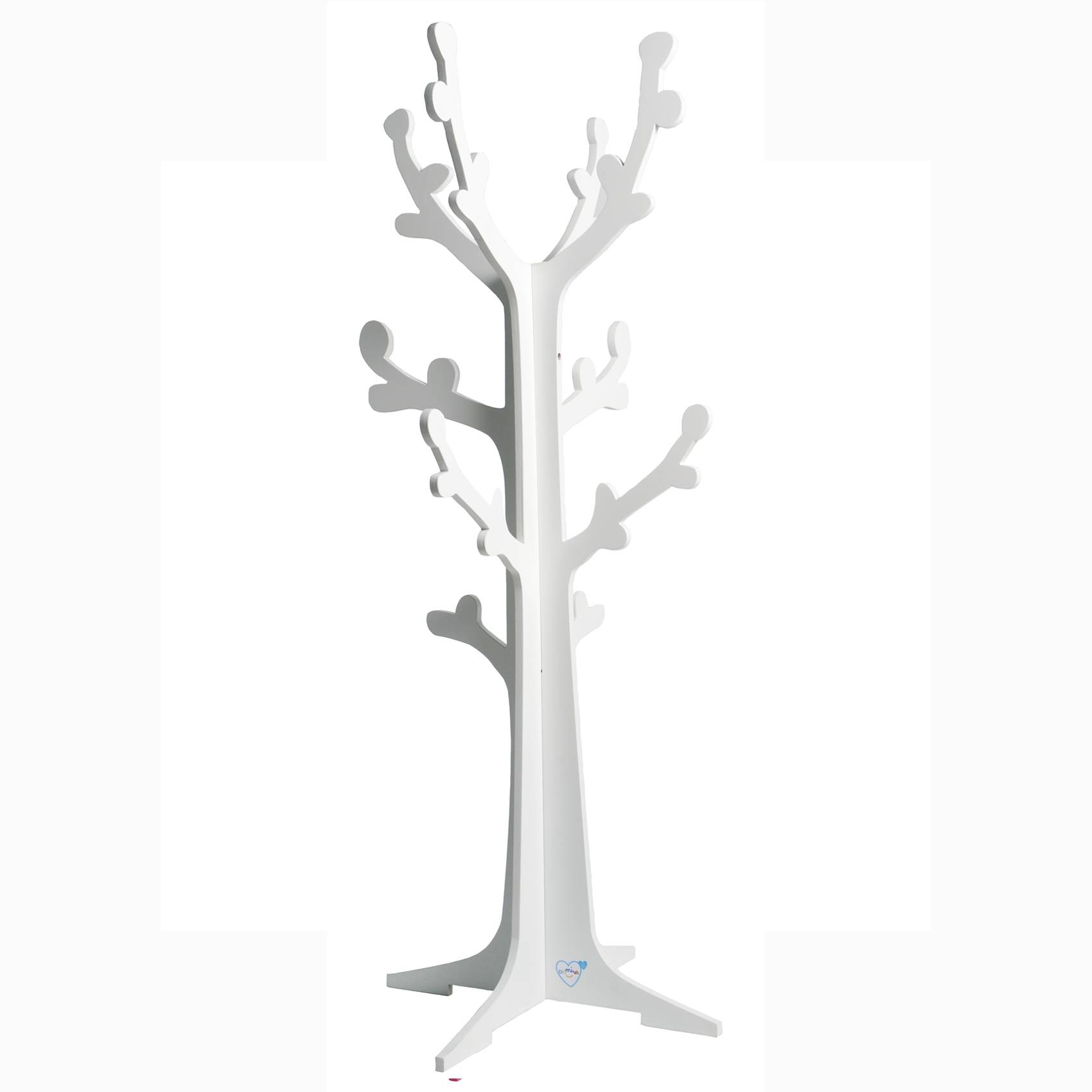 Home Maison Arbre portant en forme de cerisier enfant Blanc 45x120