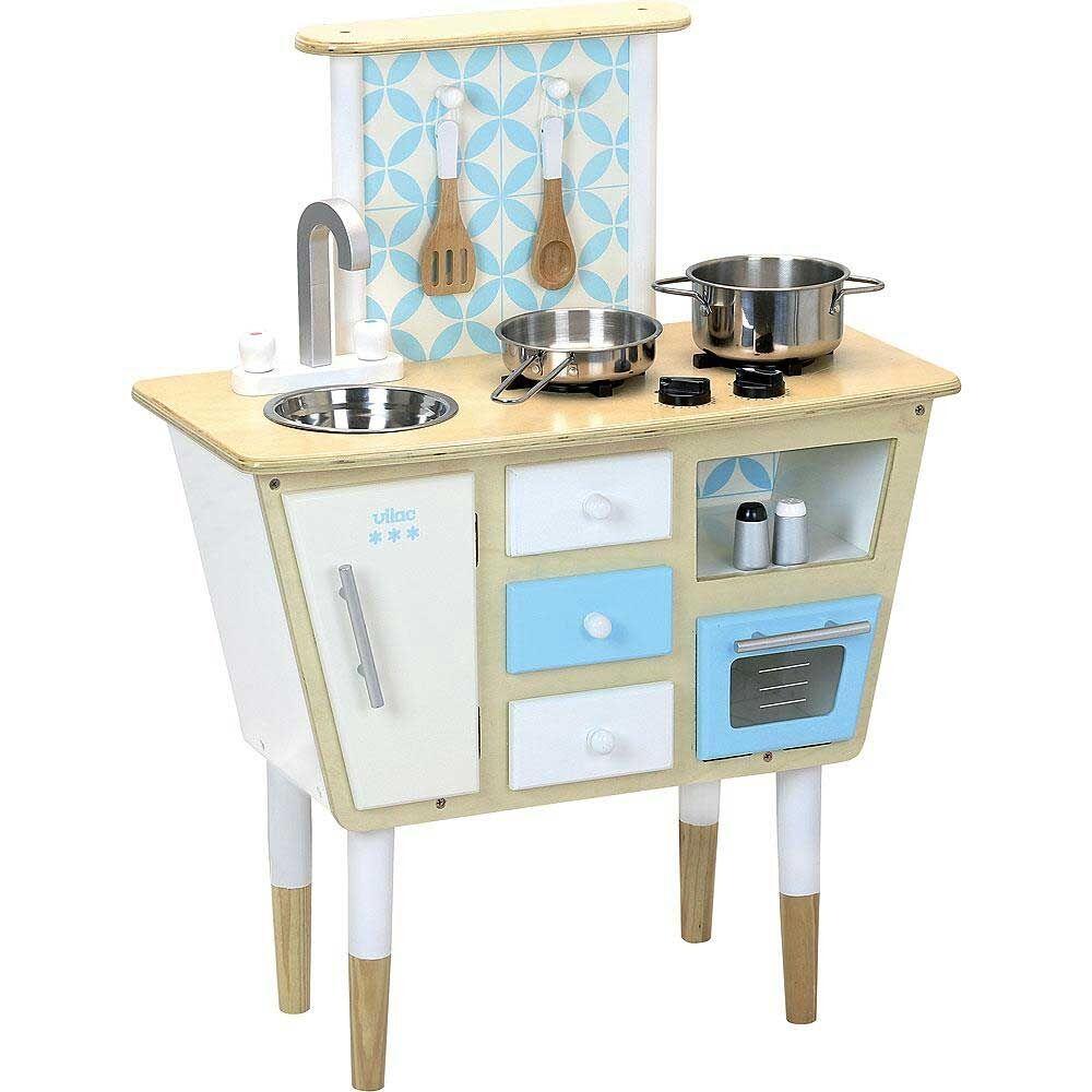 Vilac Cuisine en bois vintage blanche Vilac avec accessoires