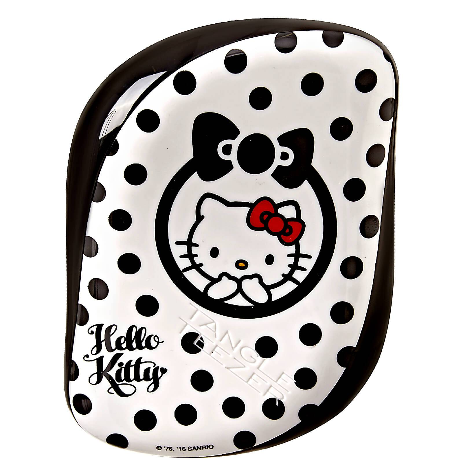 Tangle Teezer Brosse à cheveux compacte démêlante Hello Kitty - noire / blanche
