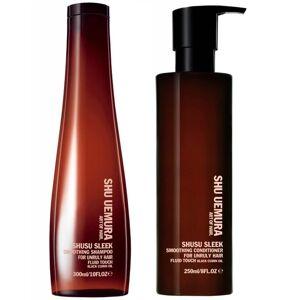 Shu Uemura Art of Hair Shusu Sleek duo adoucissant - shampooing (300ml) et après-shampooing (250ml)