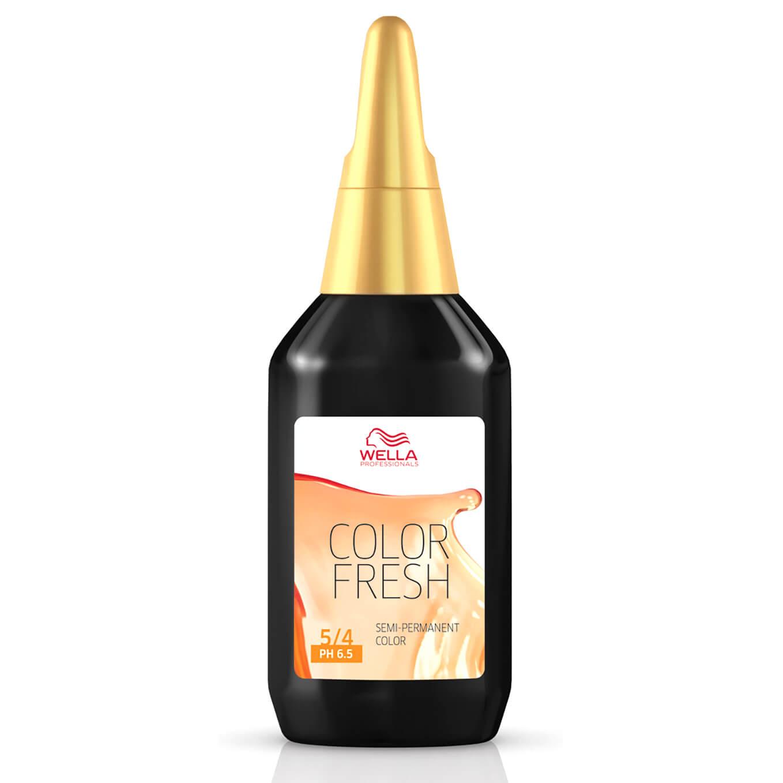 Wella Professionals Care Coloration semi-permanente WELLA COLOR FRESH - Rouge clair/marron 5.0 (75ml)