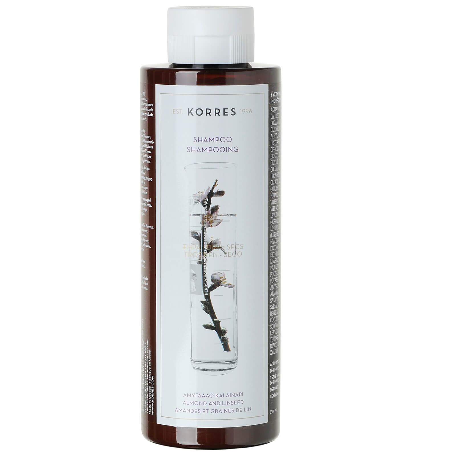 KORRES Shampooing Amande et Graines de Lin KORRES pour Cheveux Secs / Abîmés(250ml)