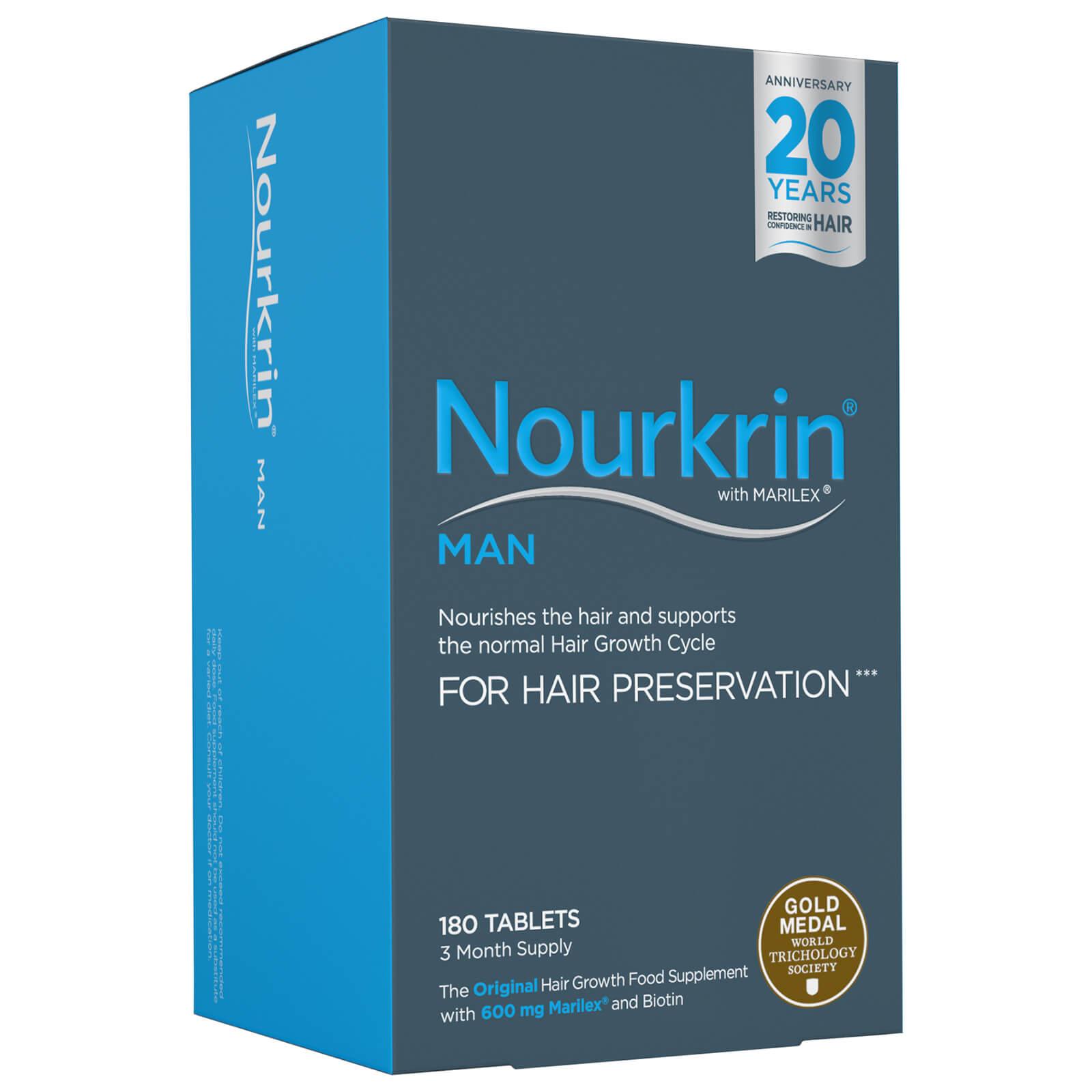 Nourkrin Programme découverte compléments alimentaires - cheveux Nourkrin Man- 3 mois (180 cachets)