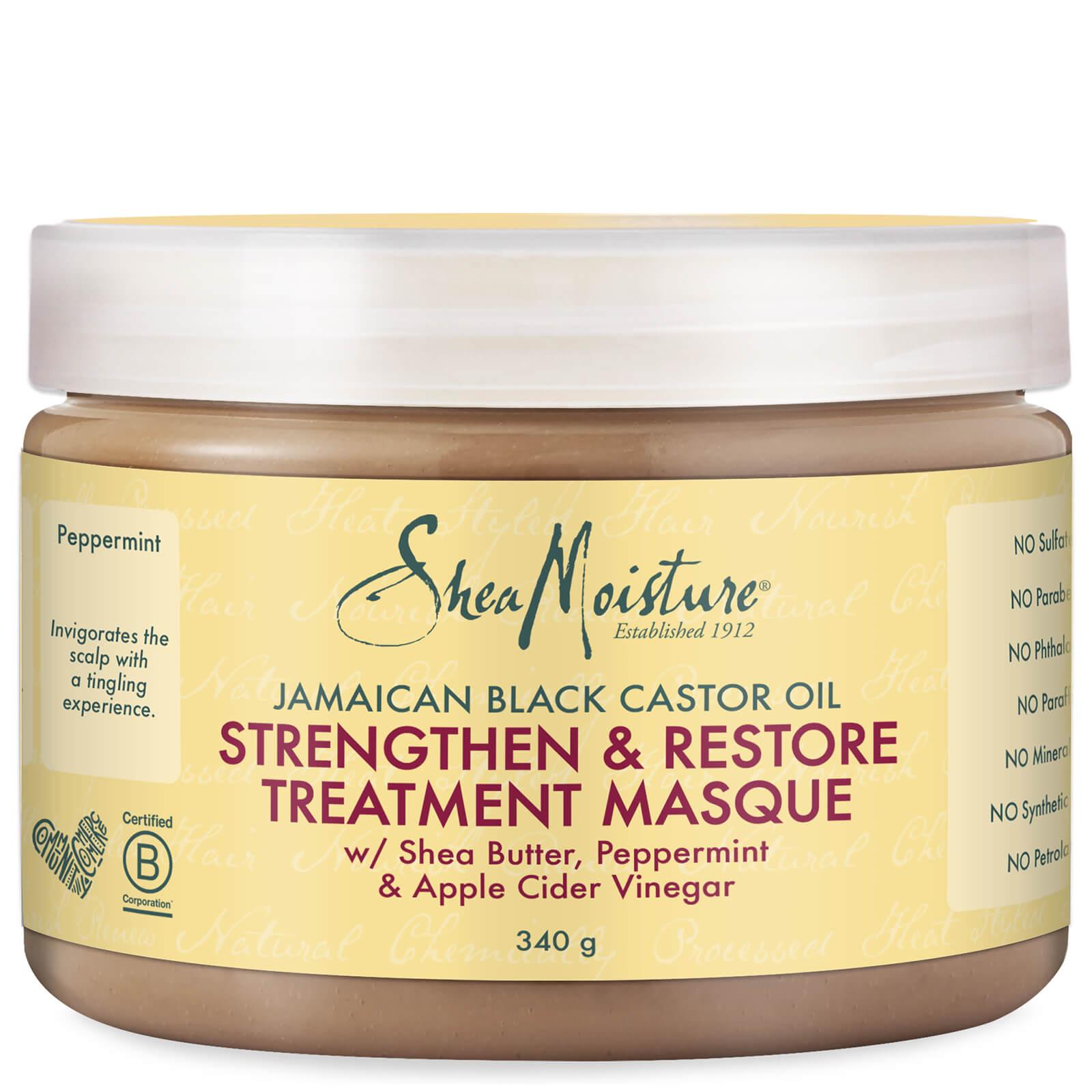 Shea Moisture Masque Stimulant & Réparateur Intense à L'huile de Ricin Noir de Jamaïque (340g)