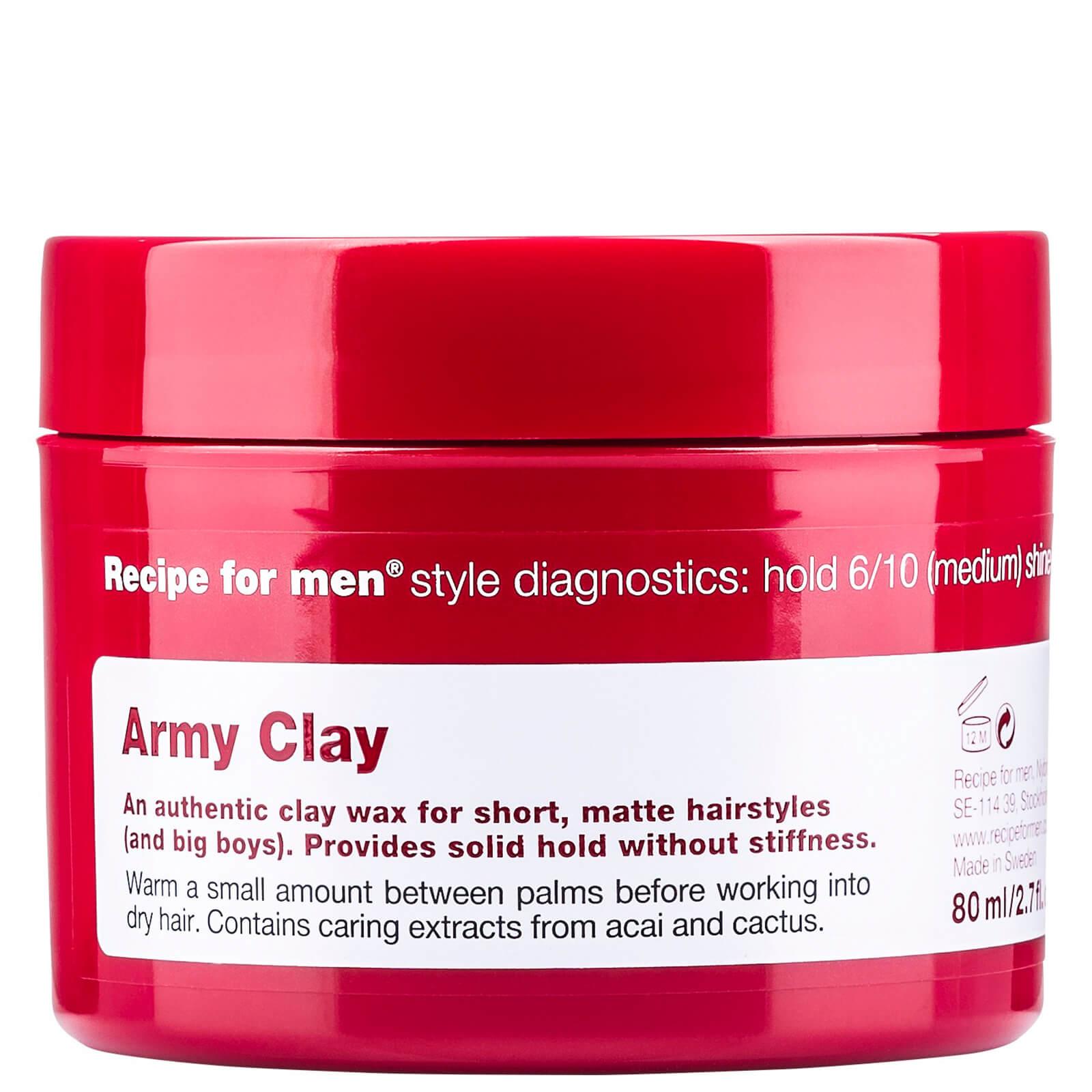 Recipe For Men Cire Army Clay Recipe for Men 80ml