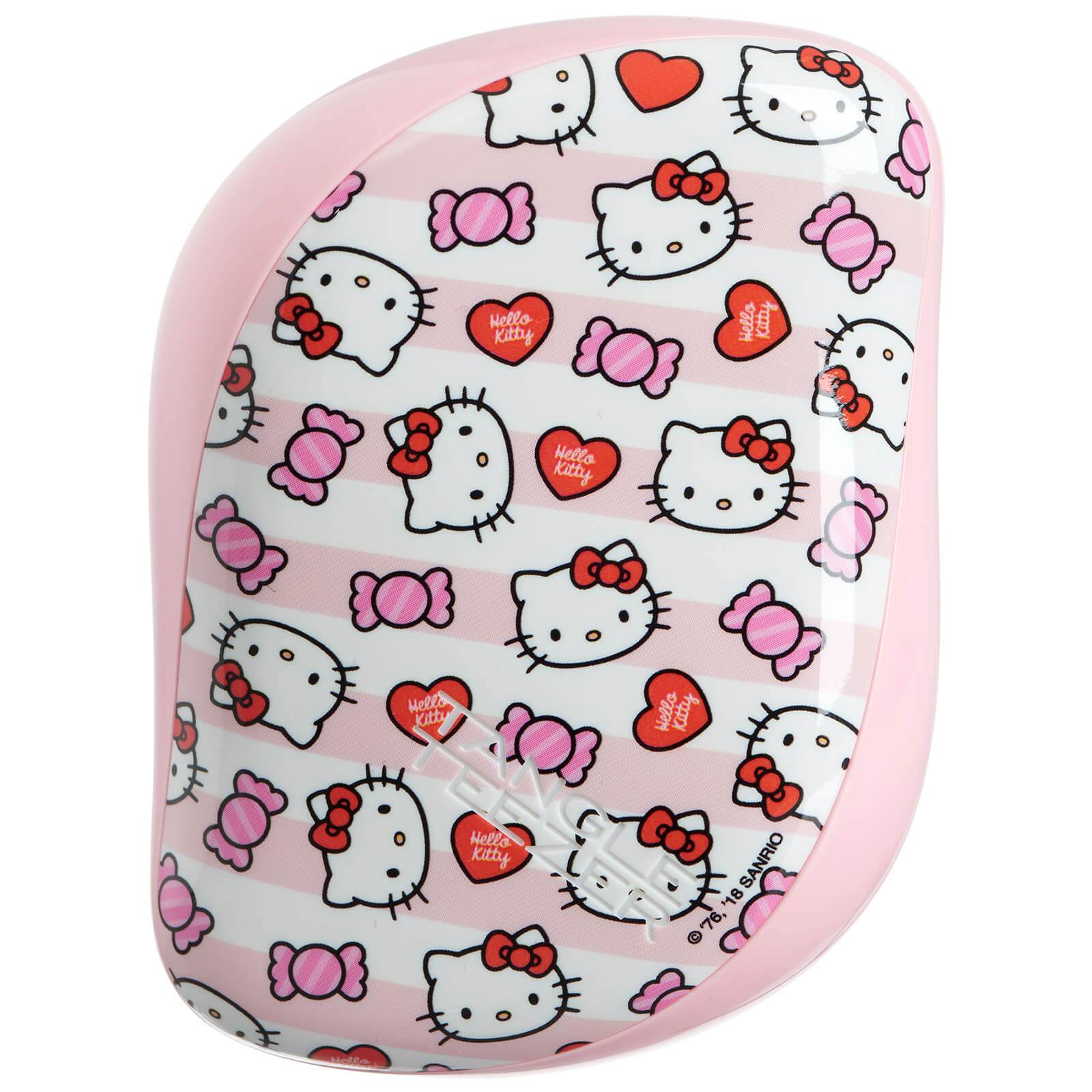Tangle Teezer Brosse de Poche Compact Styler Hairbrush – Hello Kitty Candy Stripes