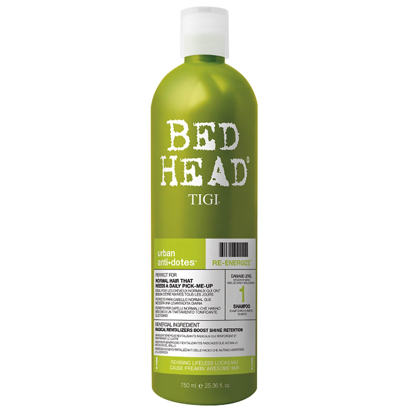 TIGI Shampooing quotidien pour cheveux normaux Urban Antidotes Re-energize TIGI Bed Head 750ml