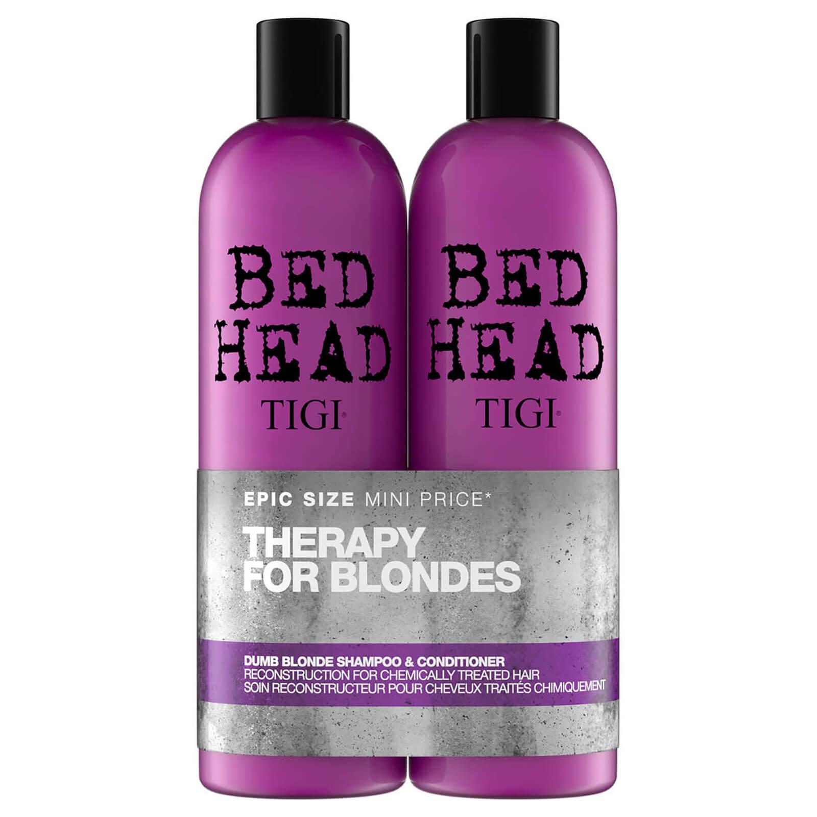 TIGI Shampooing + Après-shampoing régénérant pour cheveux traités chimiquement Dumb Blonde TIGI Bed Head 2x750ml