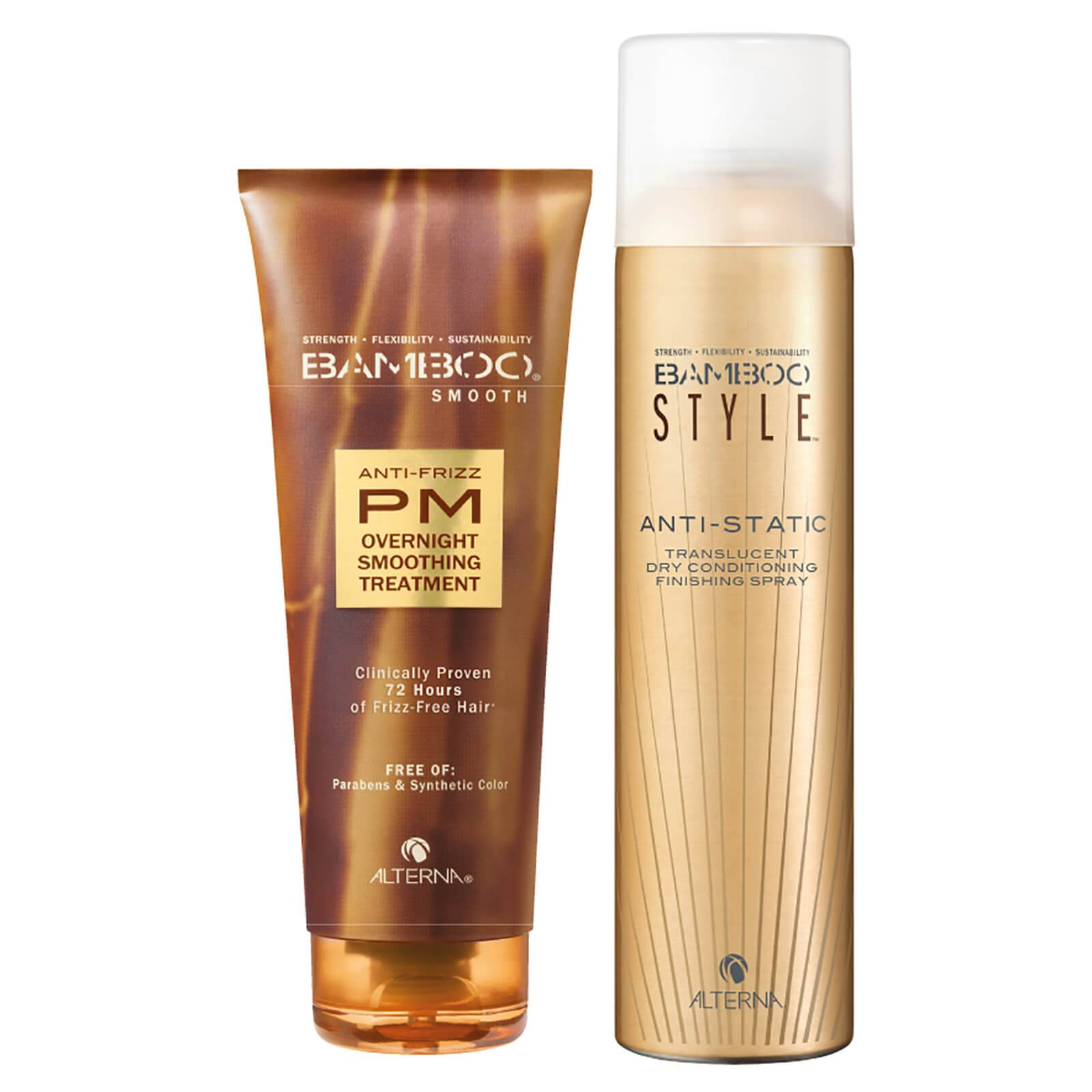 Alterna Bamboo Style Dry Finishing Spray and PM Overnight Smoothing Treatment Duo