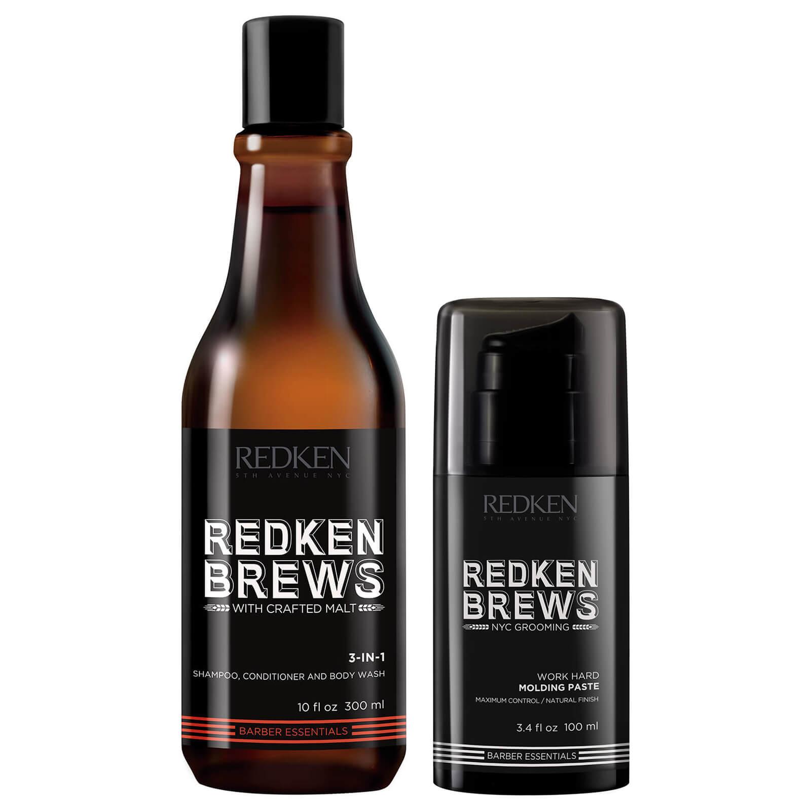 Duo cire et shampooing pour homme Redken Brews