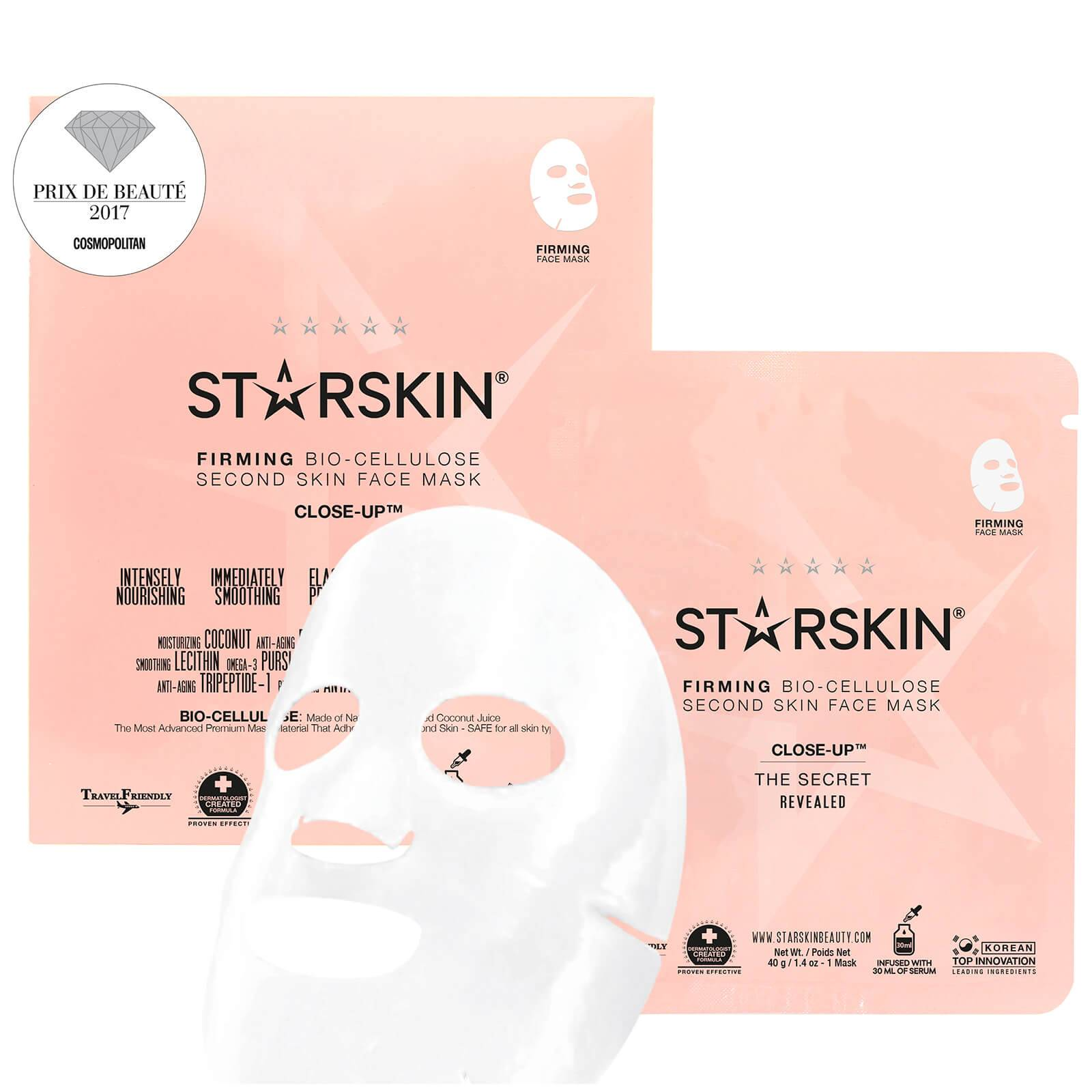 STARSKIN Masque Visage Raffermissant Seconde Peau Noix de Coco Bio-Cellulose Close-Up™ STARSKIN