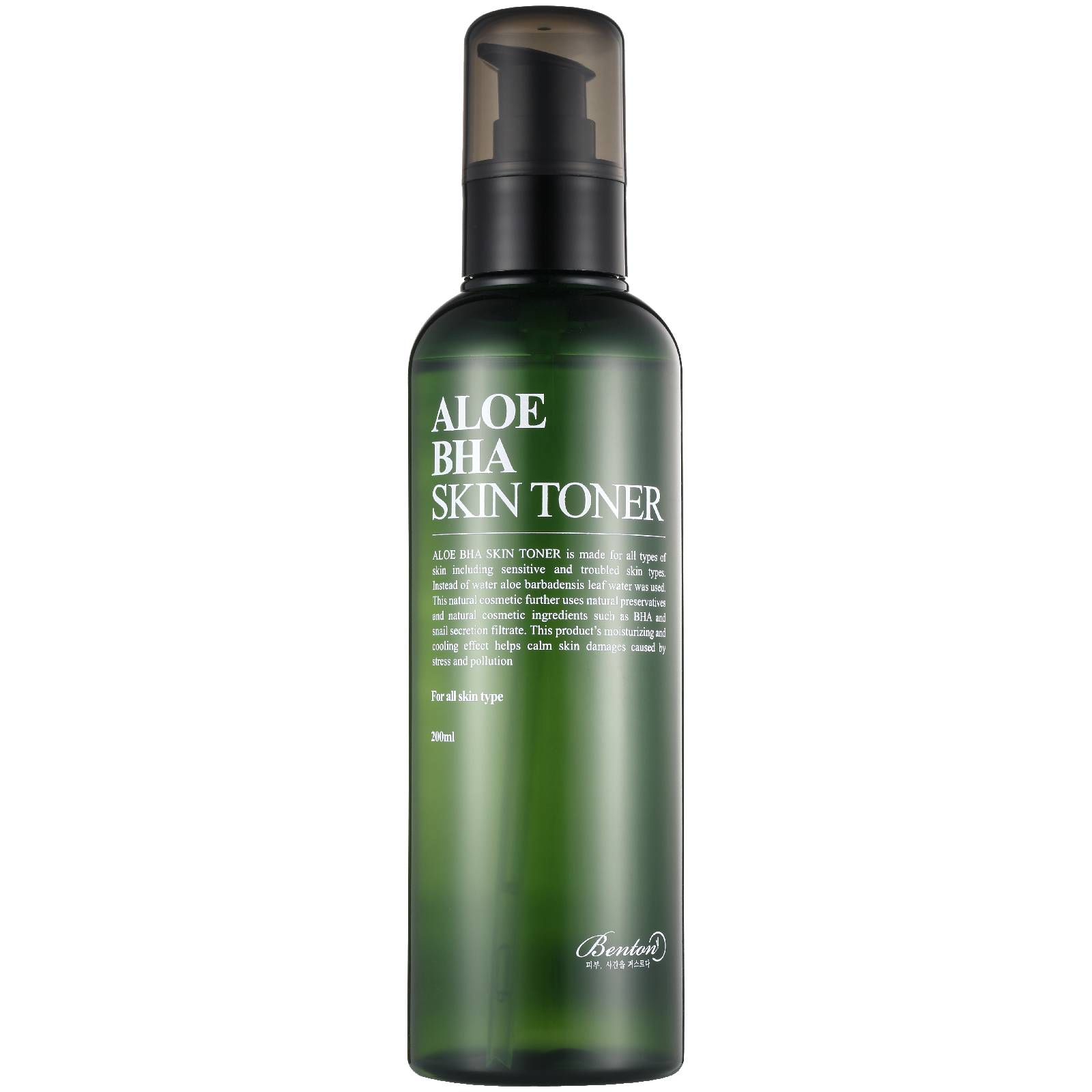 Benton Lotion Hydratante et apaisante à l'ALOE VERA Aloe BHA Skin Toner Benton 200 ml