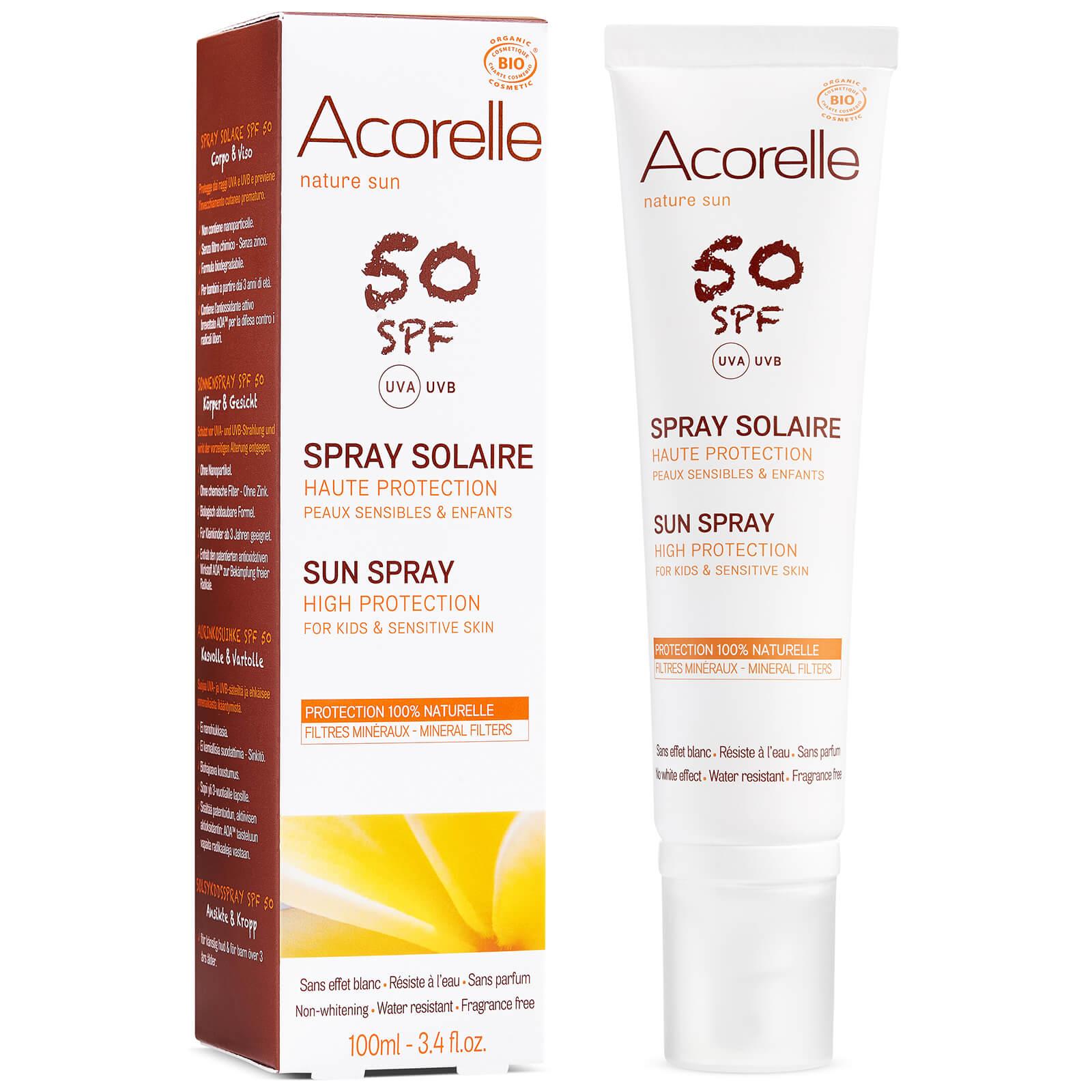 Acorelle Spray solaire bio SPF50 pour enfants Acorelle 100ml