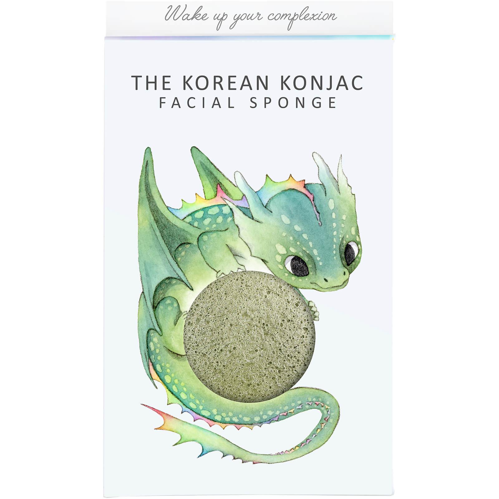 The Konjac Sponge Company Éponge Konjac, Boîte et Crochet Mythical Dragon The Konjac Sponge Company 30g – Argile Verte