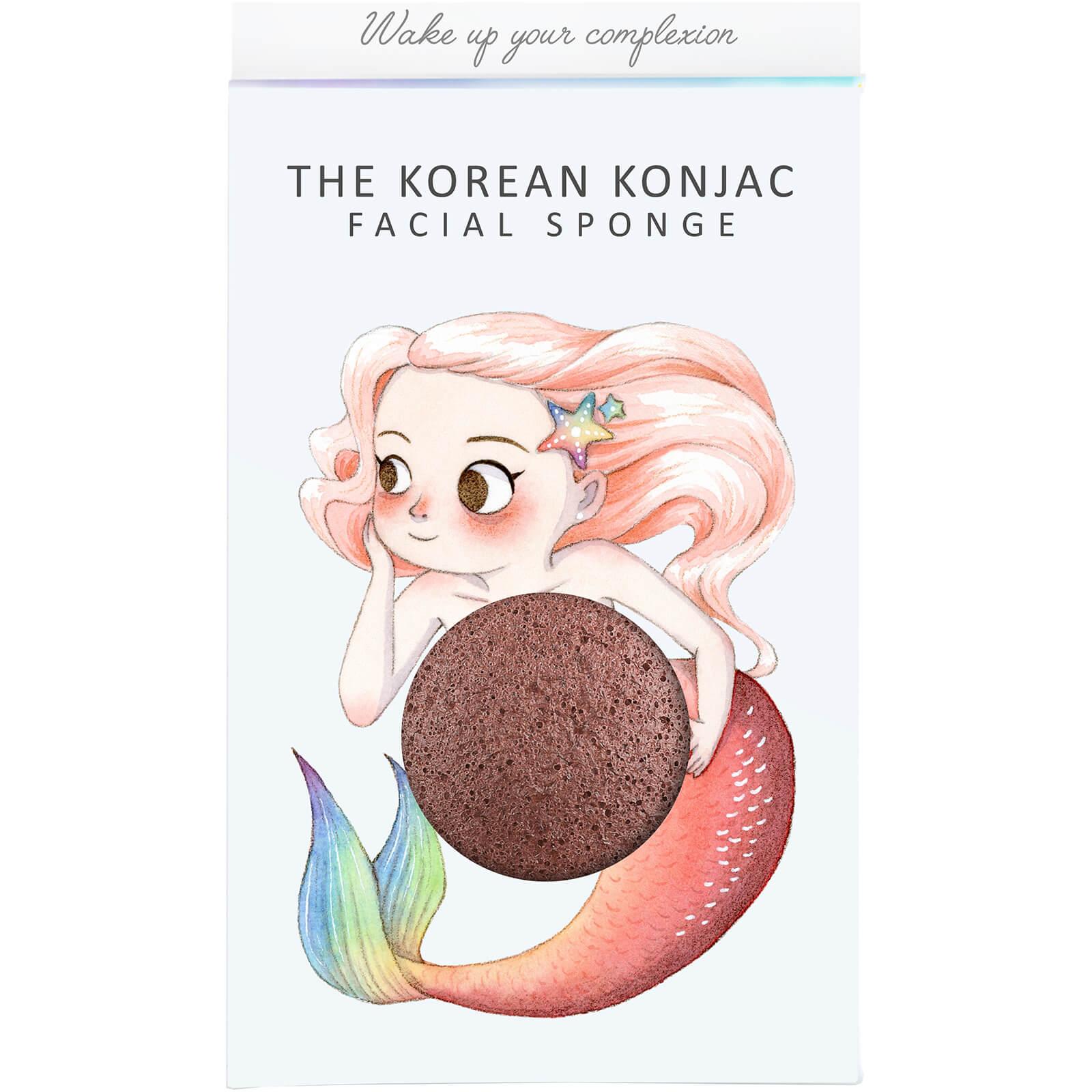 The Konjac Sponge Company Éponge Konjac, Boîte et Crochet Mythical Mermaid The Konjac Sponge Company 30g – Argile Rouge