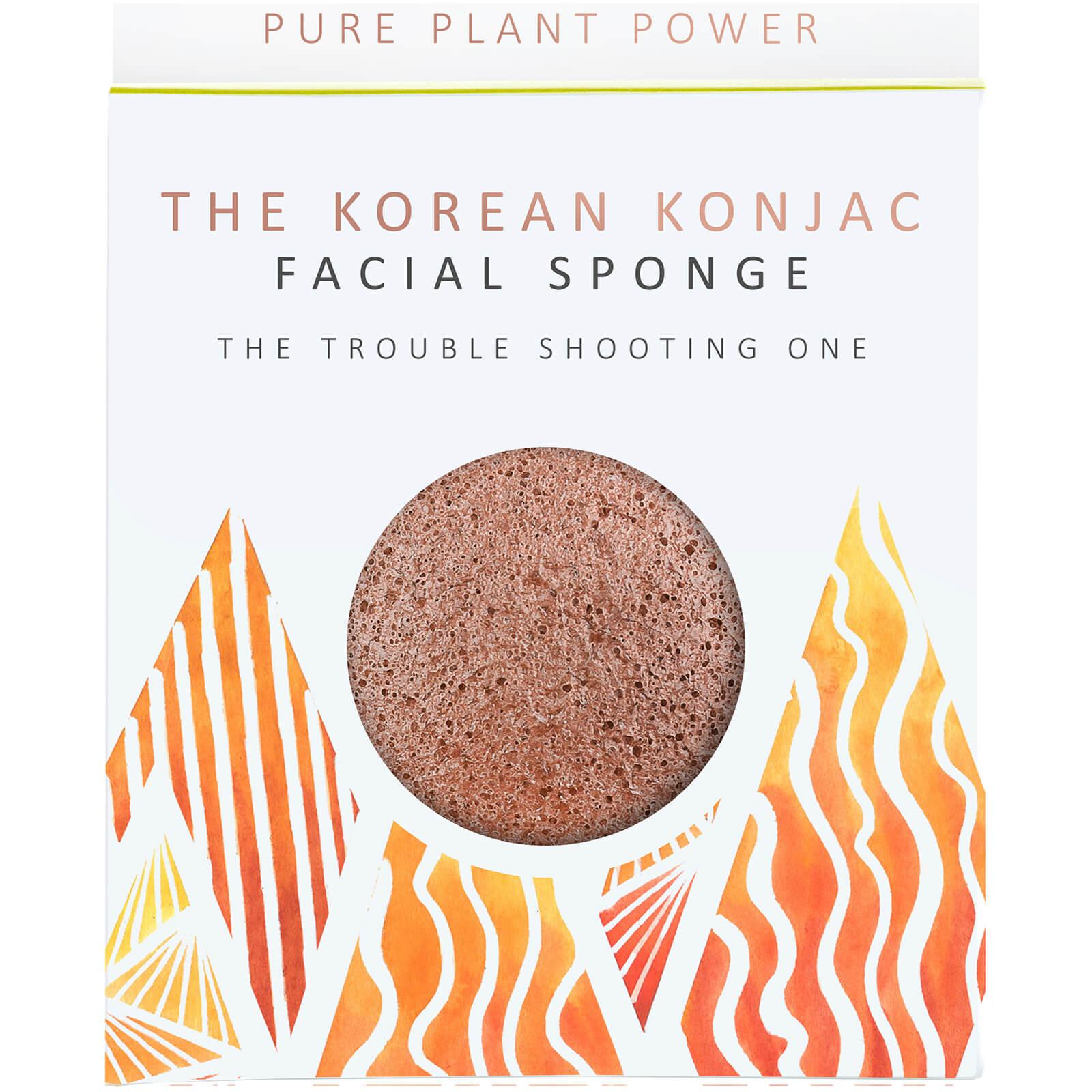 The Konjac Sponge Company Éponge pour le Visage The Elements Fire The Konjac Sponge Company 30g – Scories Volcaniques Purifiantes