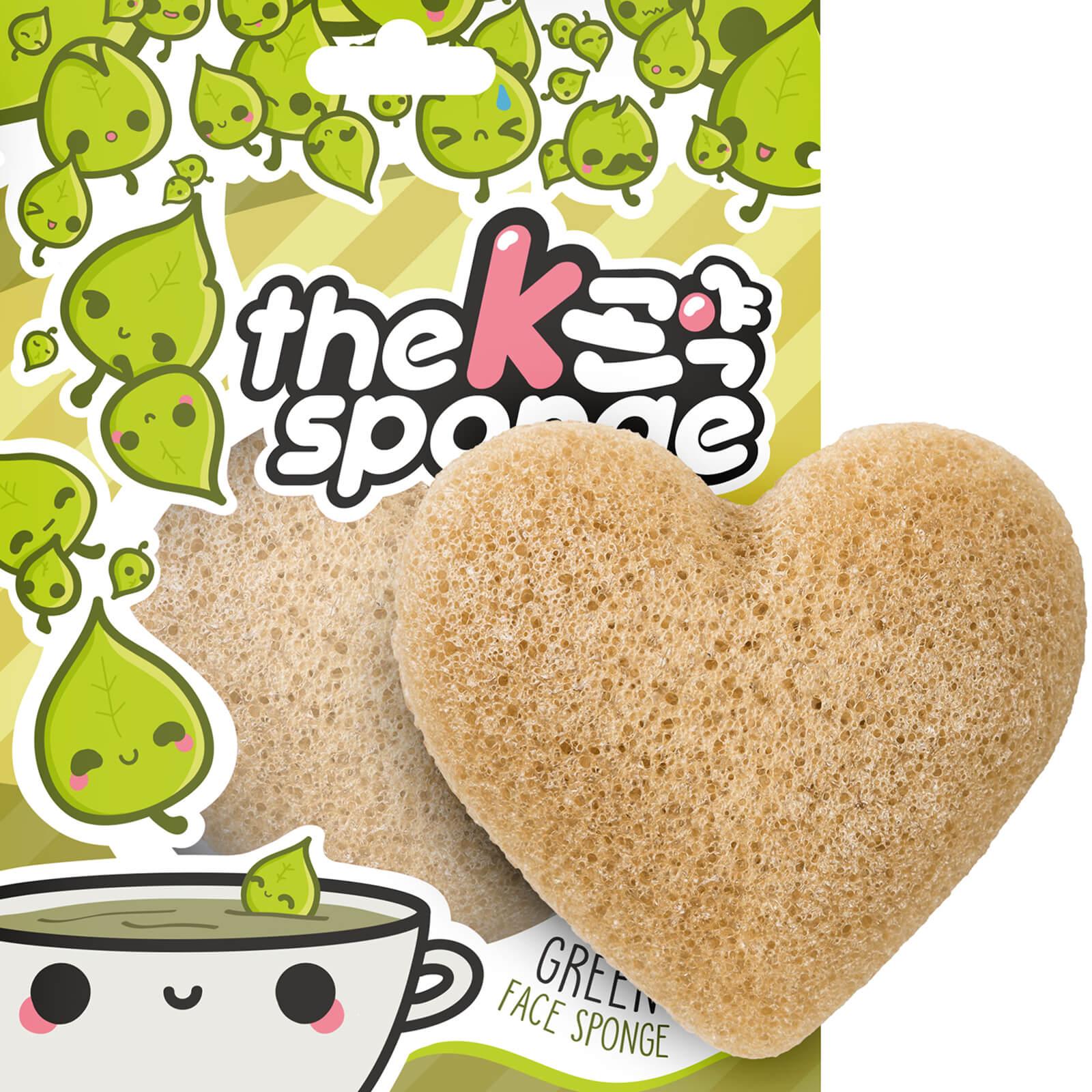 The Konjac Sponge Company Éponge Cœur K-Sponge The Konjac Sponge Company 12g – Thé Vert