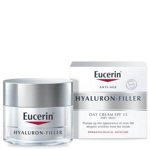 Eucerin® crème de jour peaux sèches anti-âge acide hyaluronique SPF 15 + protection UVA(50ml)
