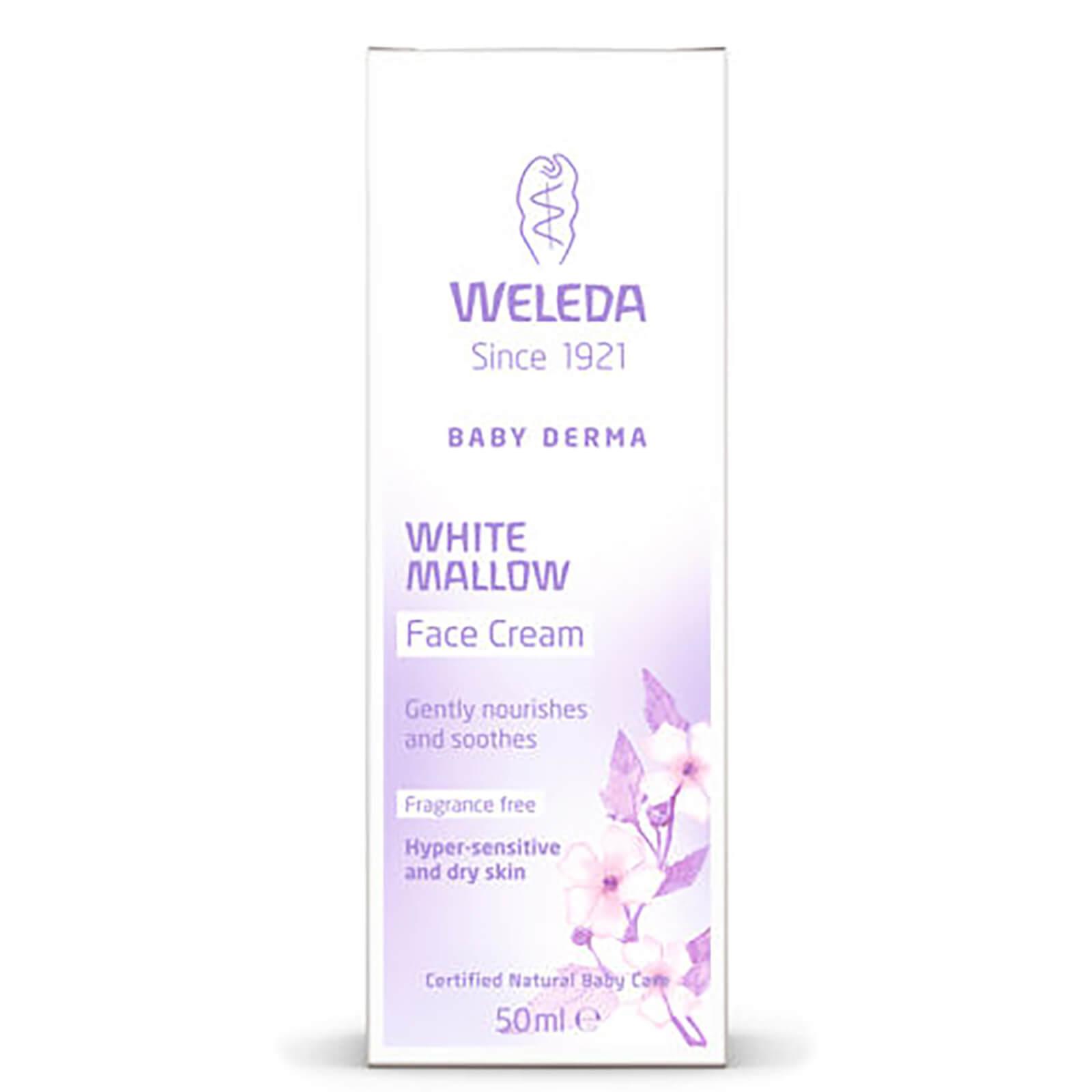 Weleda Crème pour le visage Weleda Baby Derma White Mallow Face Cream (50 ml)