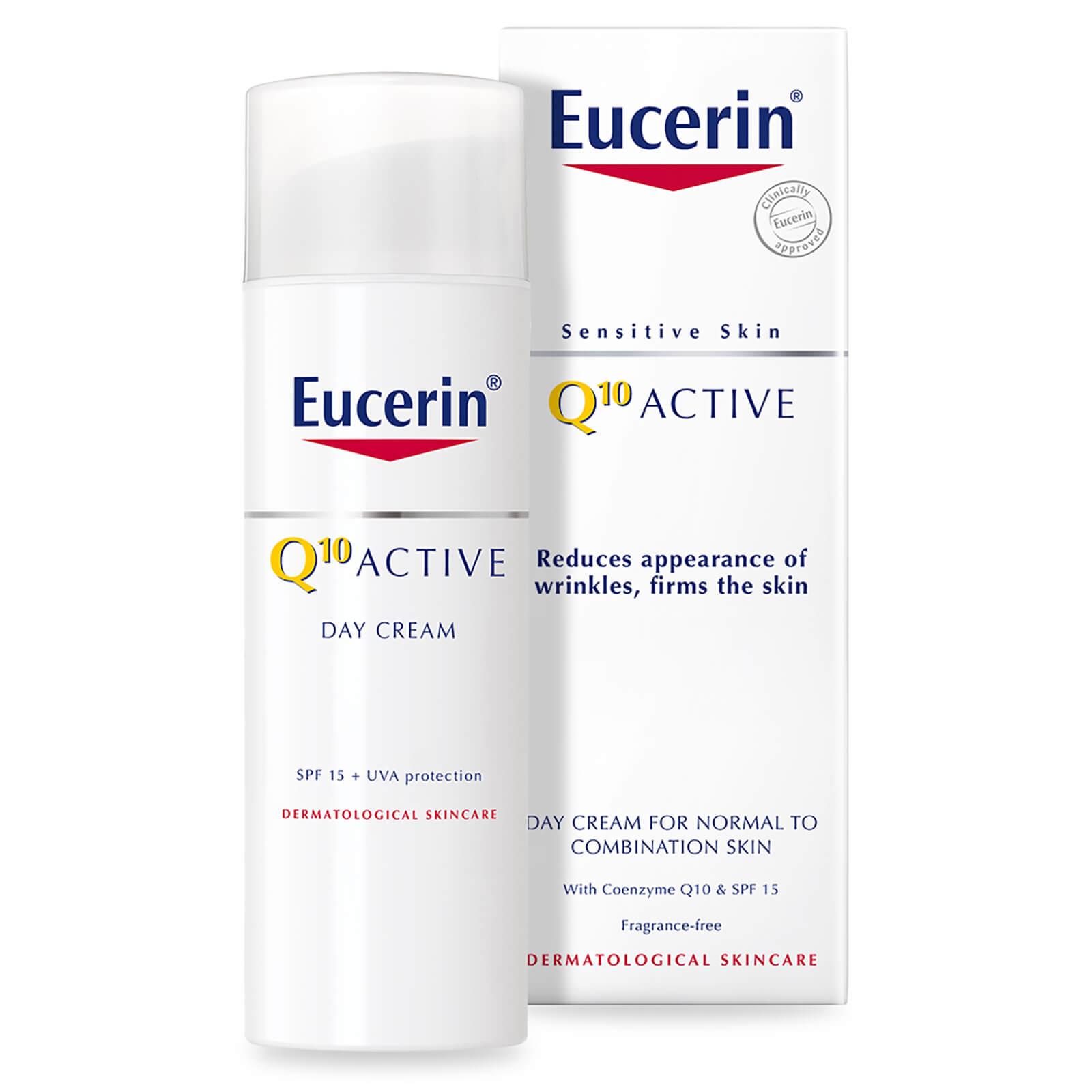 Eucerin® Sensitive Skin Q10 Active Crème de jour anti-rides peaux sensibles SPF 15 (50ml)