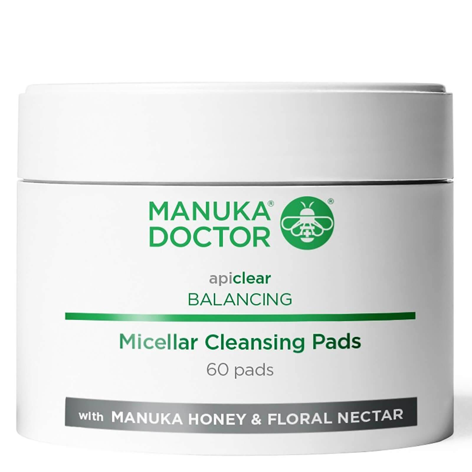 Manuka Doctor Disques Nettoyants Équilibrants Micellaires Apiclear Balancing Micellar Cleansing Pads Manuka Doctor (60 disques)