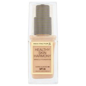 Max Factor Fond de teint Max Factor Healthy Skin Harmony 30ml – 45 Warm Almond - Publicité