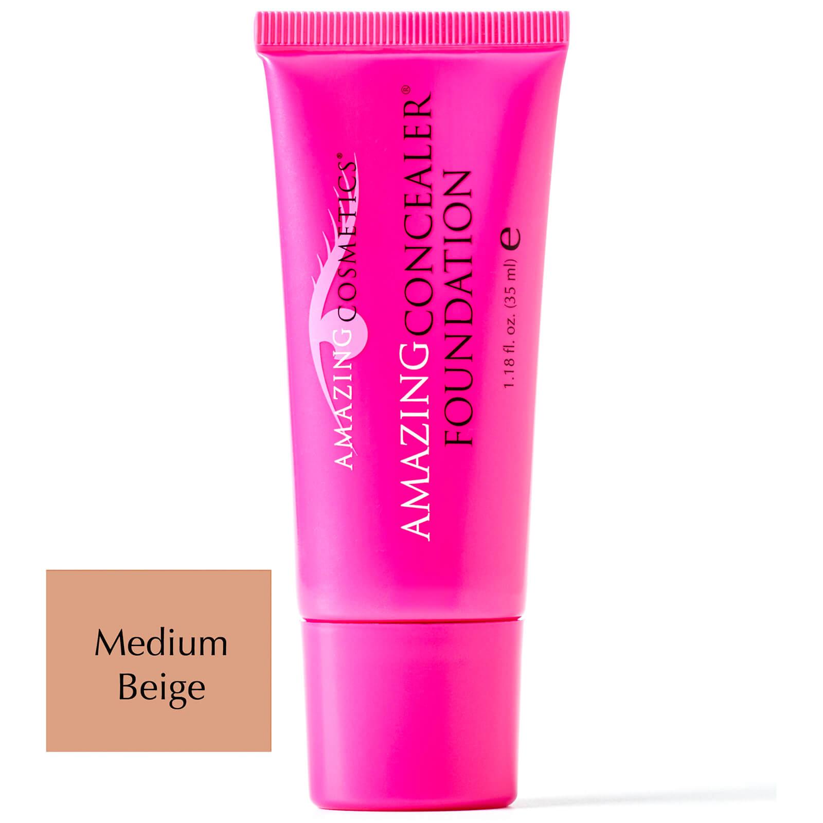 Amazing Cosmetics AmazingConcealer® FoundationdeAmazing Cosmetics35ml -Différentes teintes - Medium Beige
