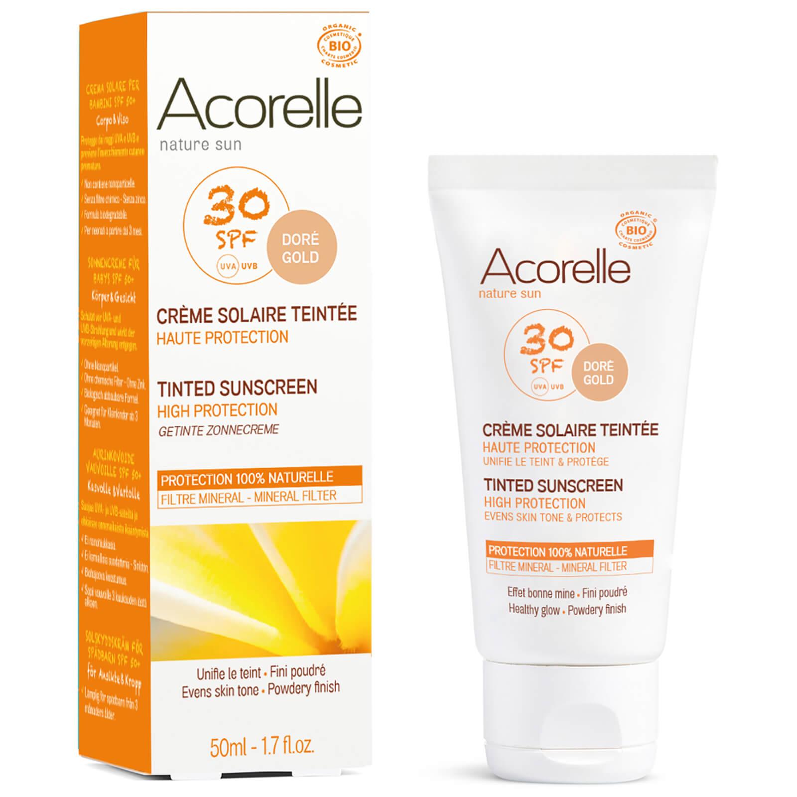 Acorelle Crème solaire teintée bio SPF30 Acorelle – Doré 50ml