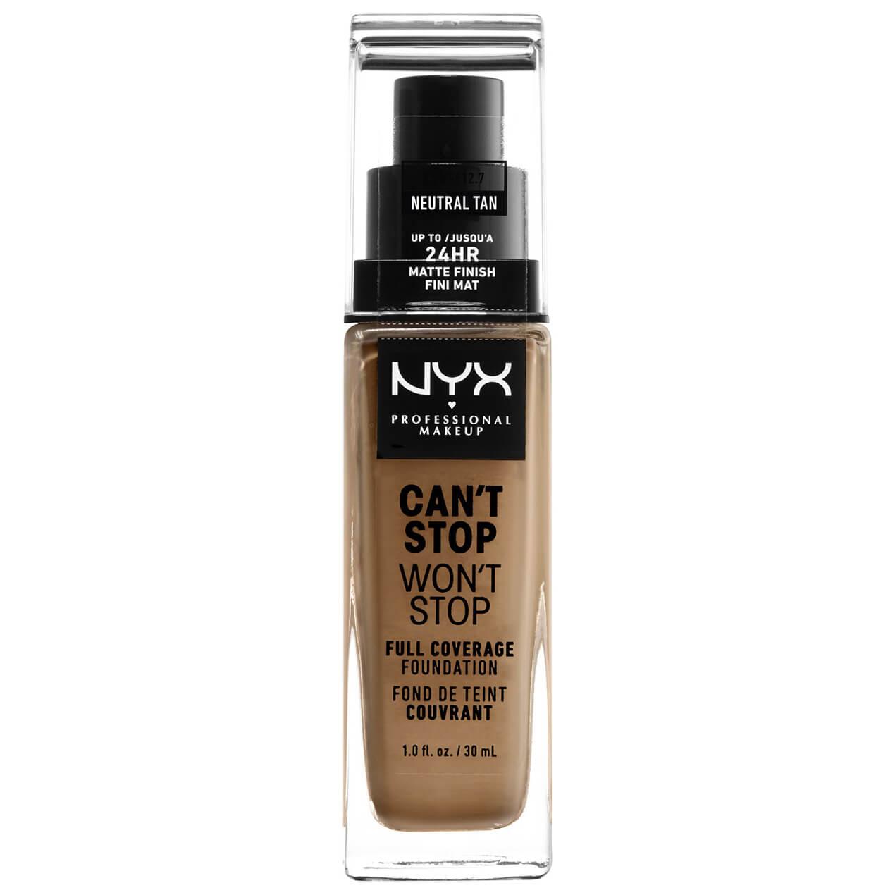 NYX Professional Makeup Fond de Teint 24Heures Can't Stop Won't Stop NYX Professional Makeup (différentes teintes disponibles) - Neutral Tan
