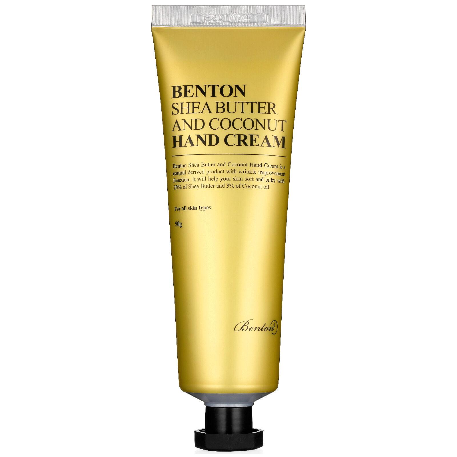 Benton Crème pour les mains au beurre de karité et à la noix de coco Benton 50 g