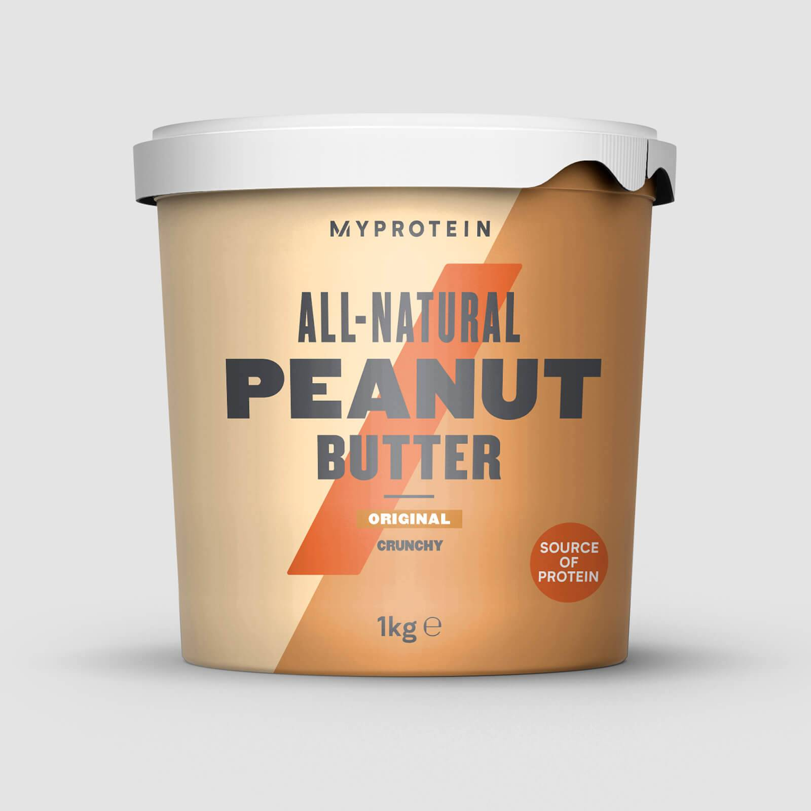 Myprotein Beurre de cacahuètes - 1kg - Nature - Croustillant