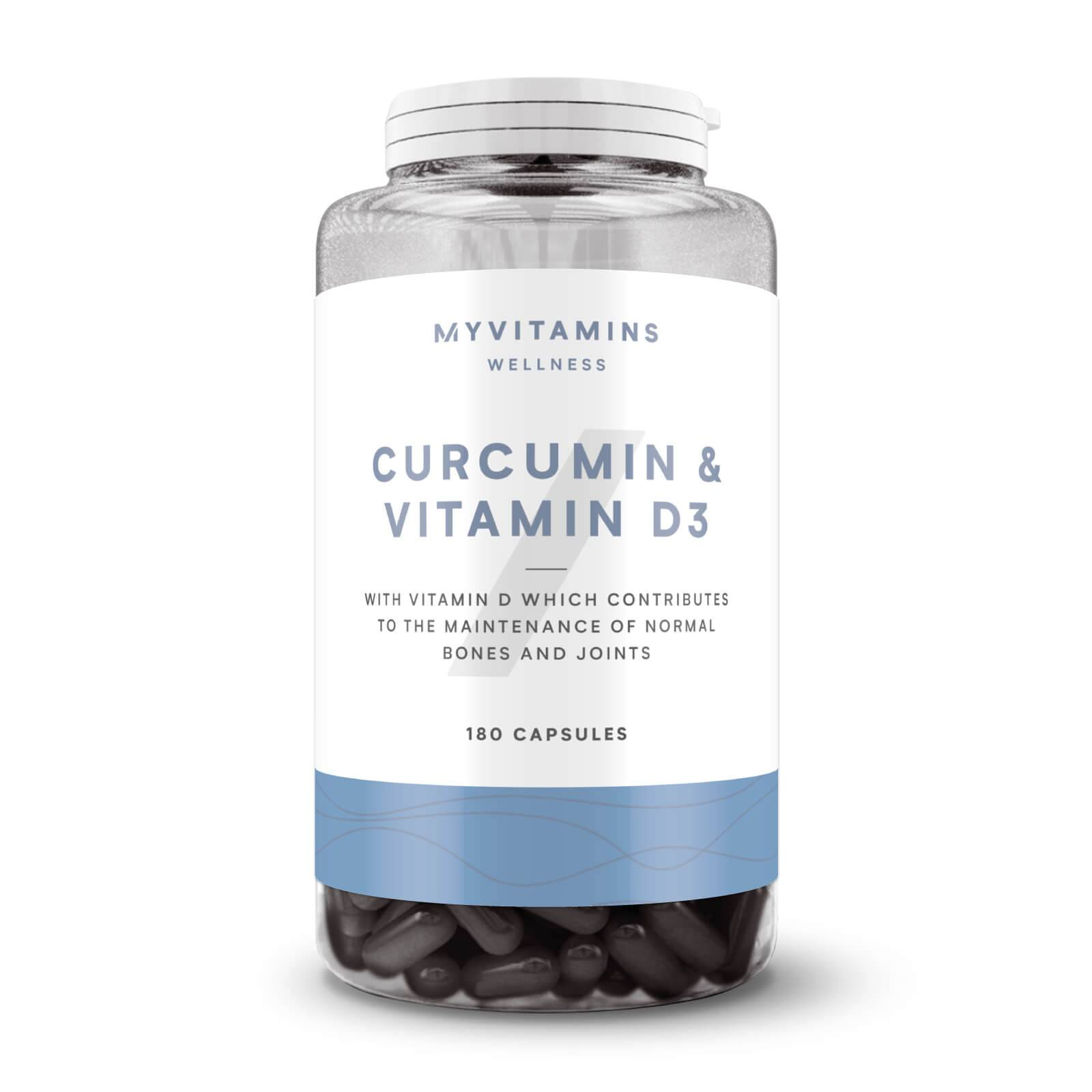Myvitamins Gélules de Curcumine et Vitamine D - 60Gélules