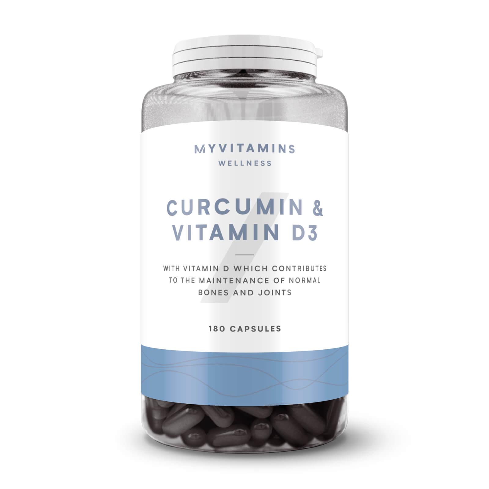 Myvitamins Gélules de Curcumine et Vitamine D - 180Gélules