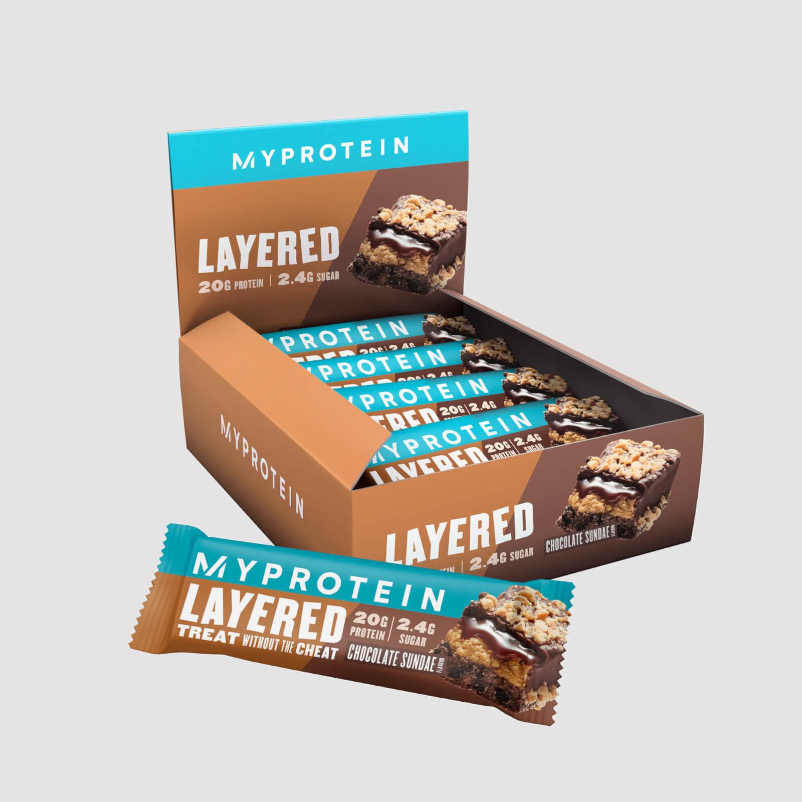 Myprotein Barre de protéines à 6 couches - 12 x 60g - Sundae Chocolat