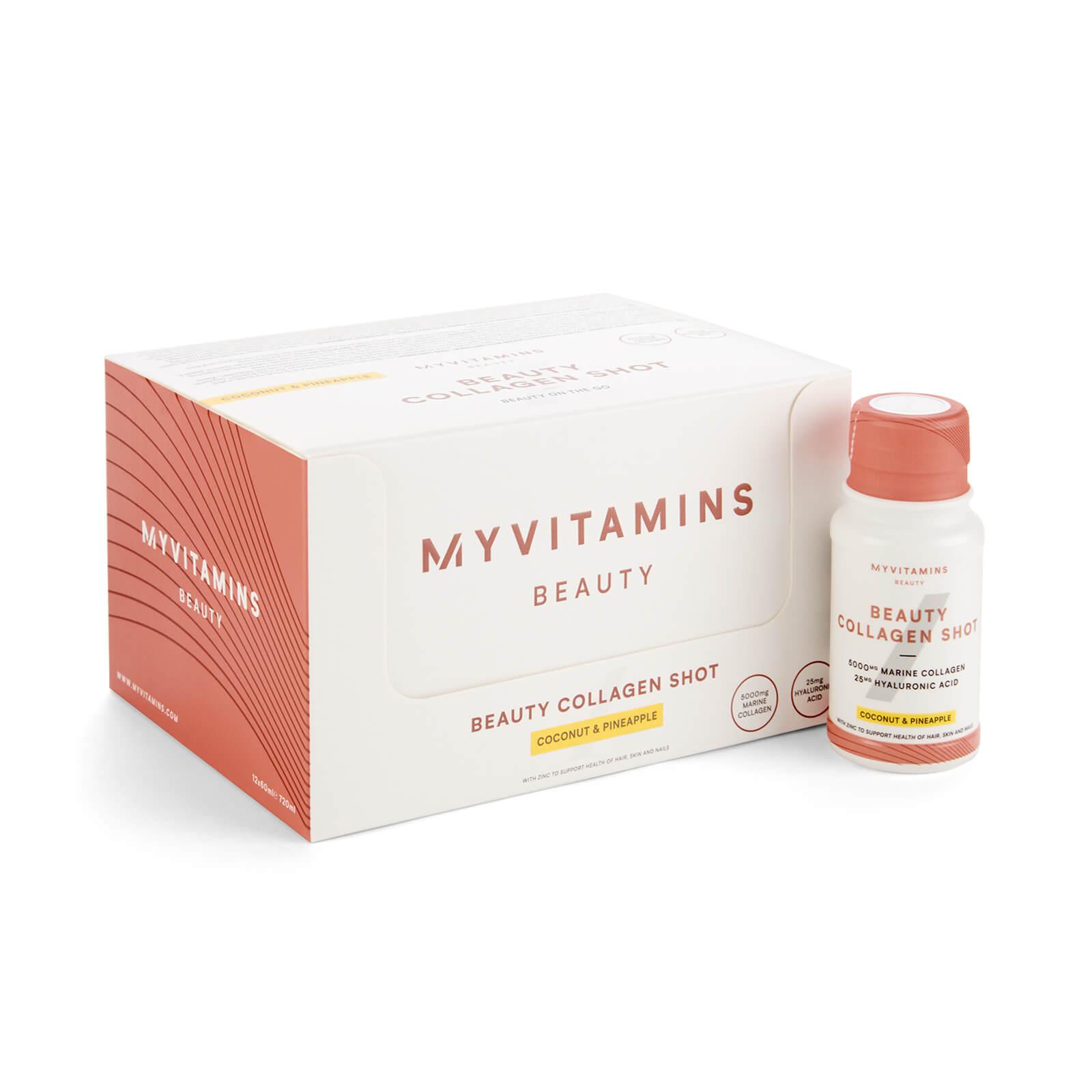 Myvitamins Collagène à boire - Shot Beauté - 12 x 60ml - Coconut & Pineapple